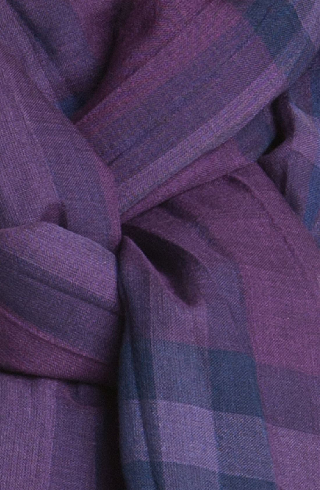 Giant Check Print Wool & Silk Scarf,                             Alternate thumbnail 103, color,