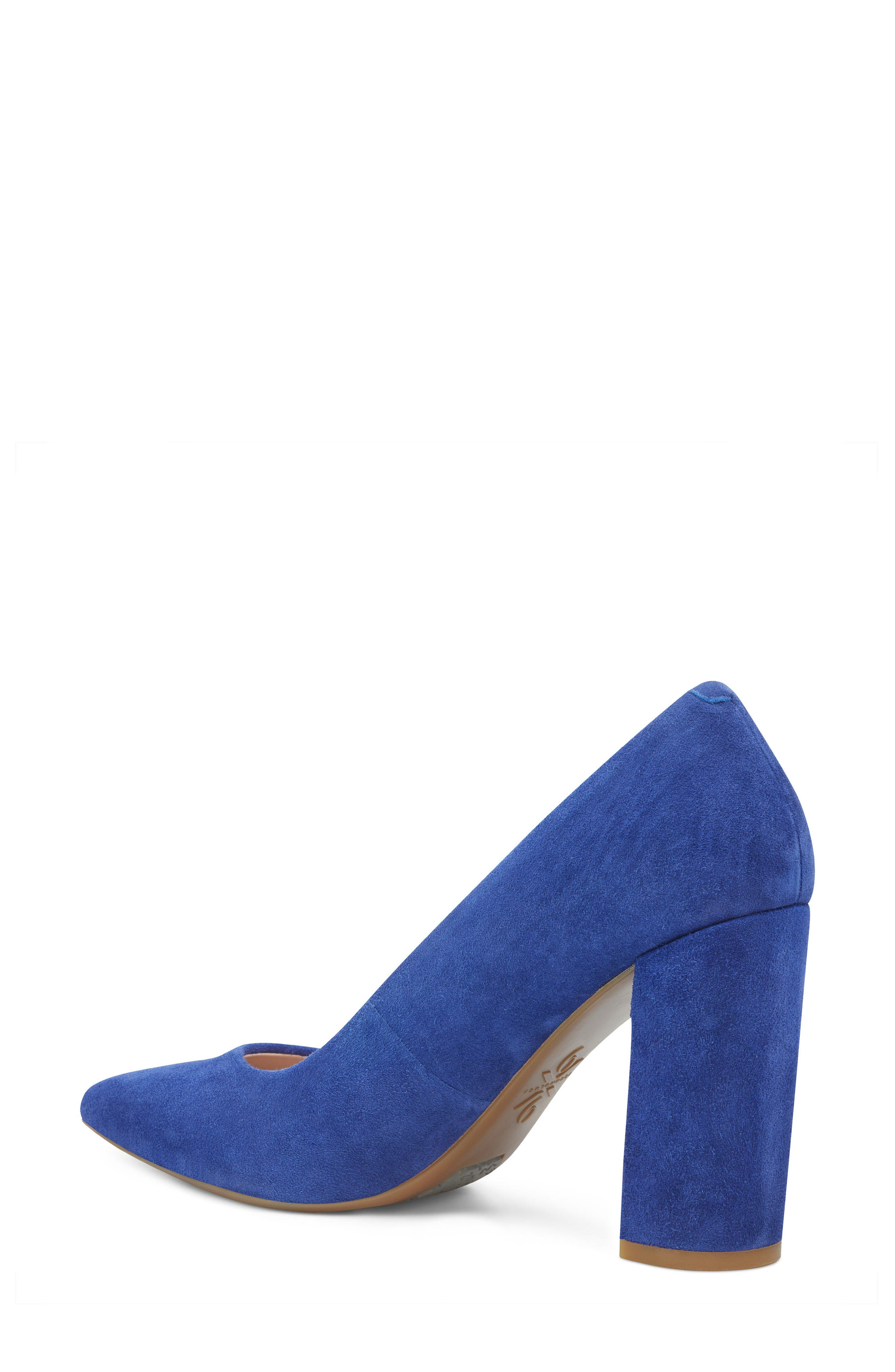 Astoria Pump,                             Alternate thumbnail 2, color,                             DARK BLUE SUEDE