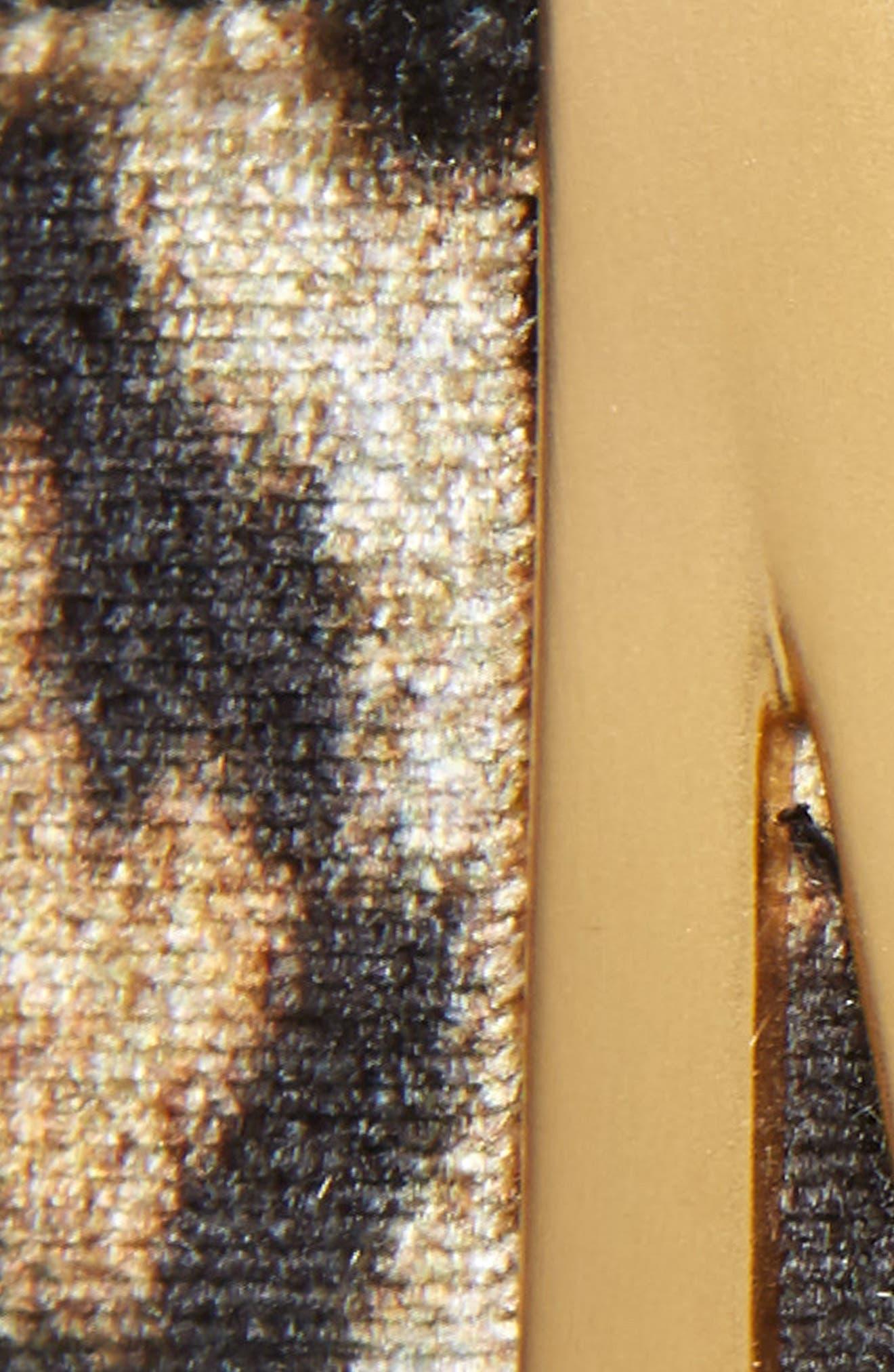 Logo Plate Leopard Print Velvet Belt,                             Alternate thumbnail 3, color,                             GOLD/ LEOPARD