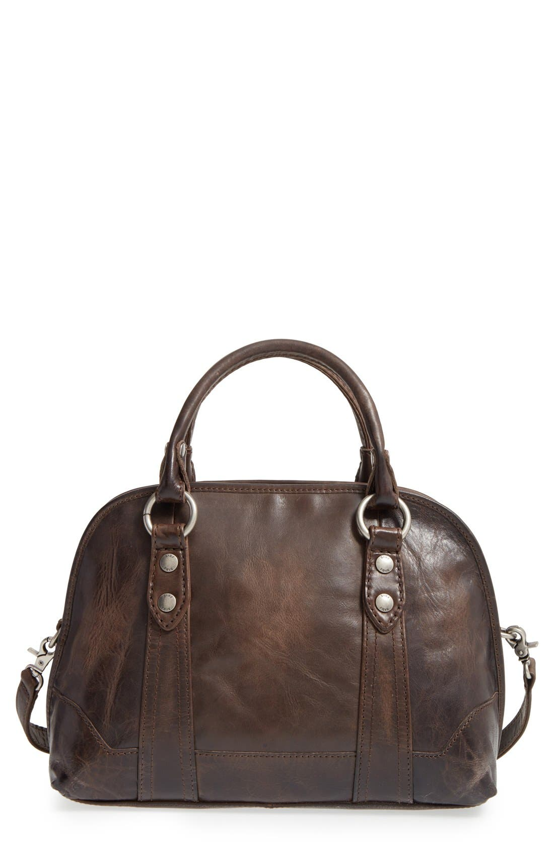 'Melissa' Domed Leather Satchel,                             Main thumbnail 1, color,                             020