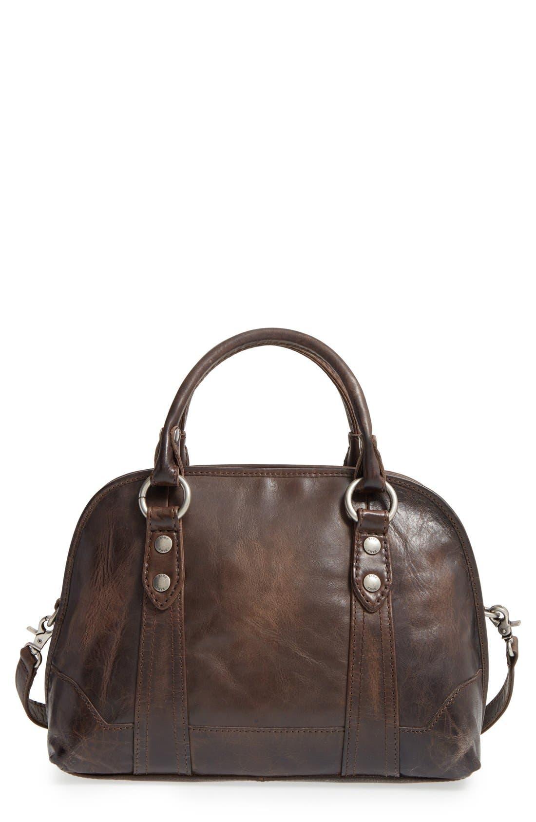 'Melissa' Domed Leather Satchel,                         Main,                         color, 020