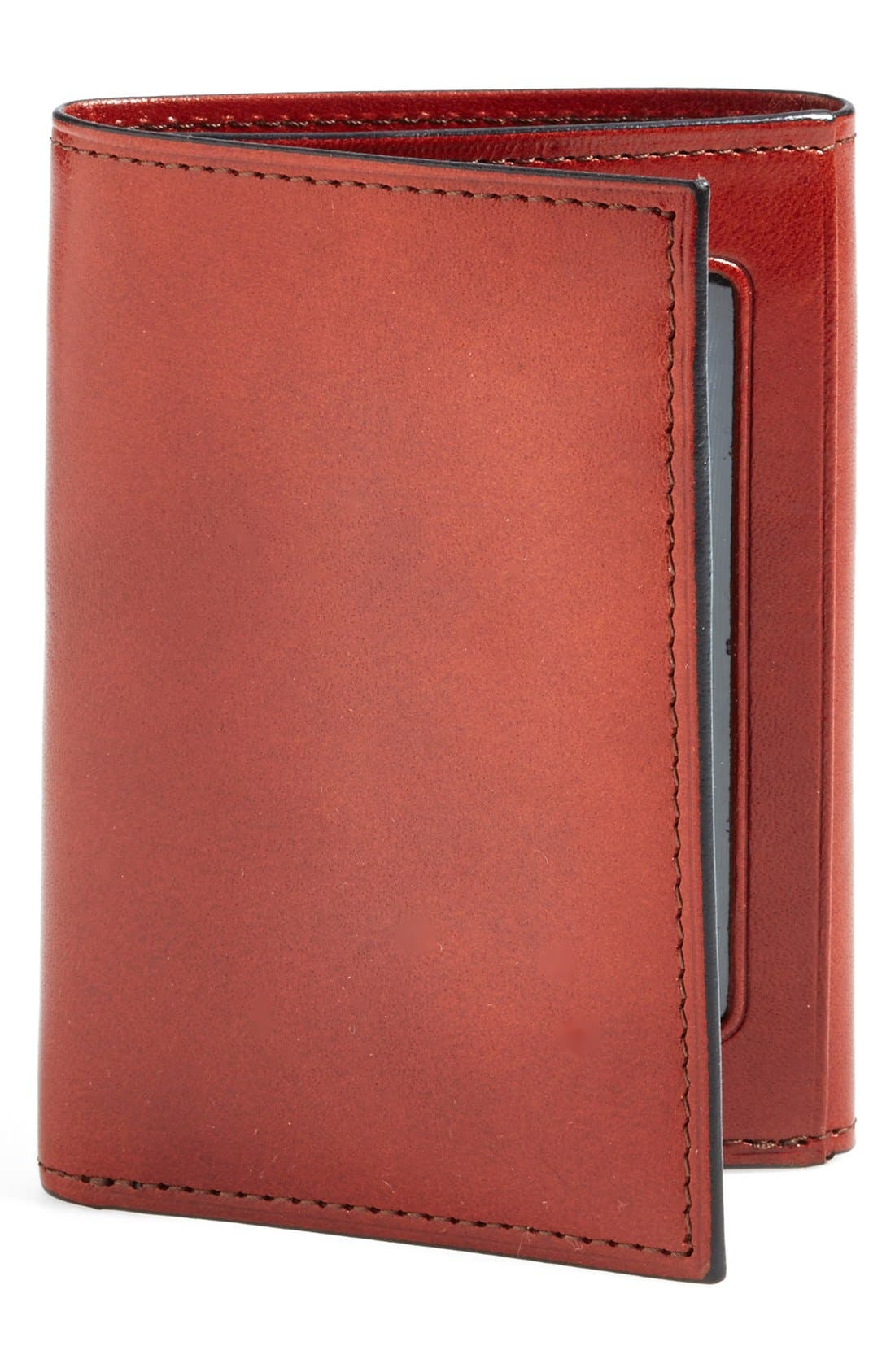 'Old Leather' Trifold Wallet,                             Main thumbnail 1, color,                             COGNAC