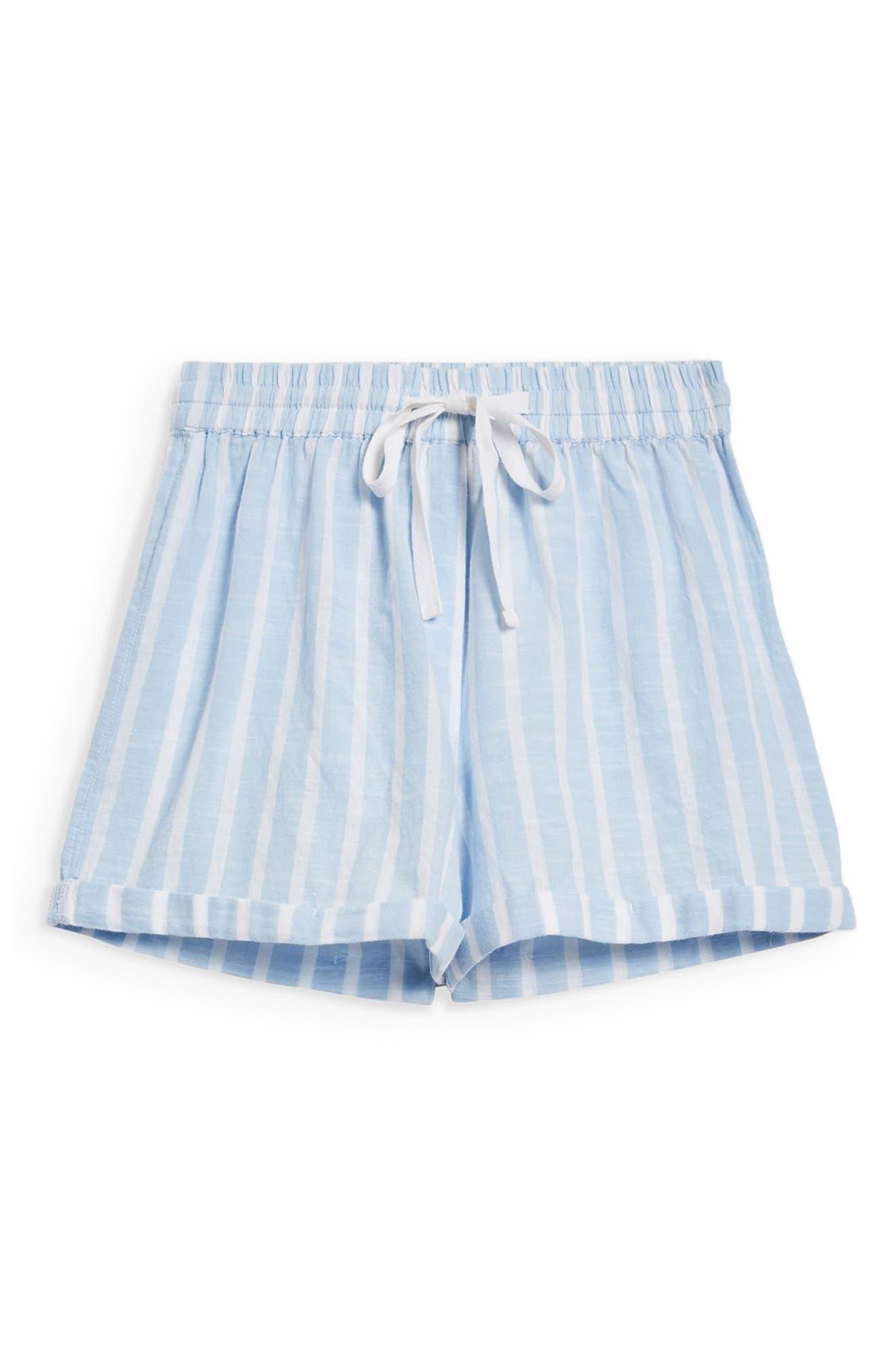 Stripe Pajama Shorts,                             Alternate thumbnail 3, color,                             450