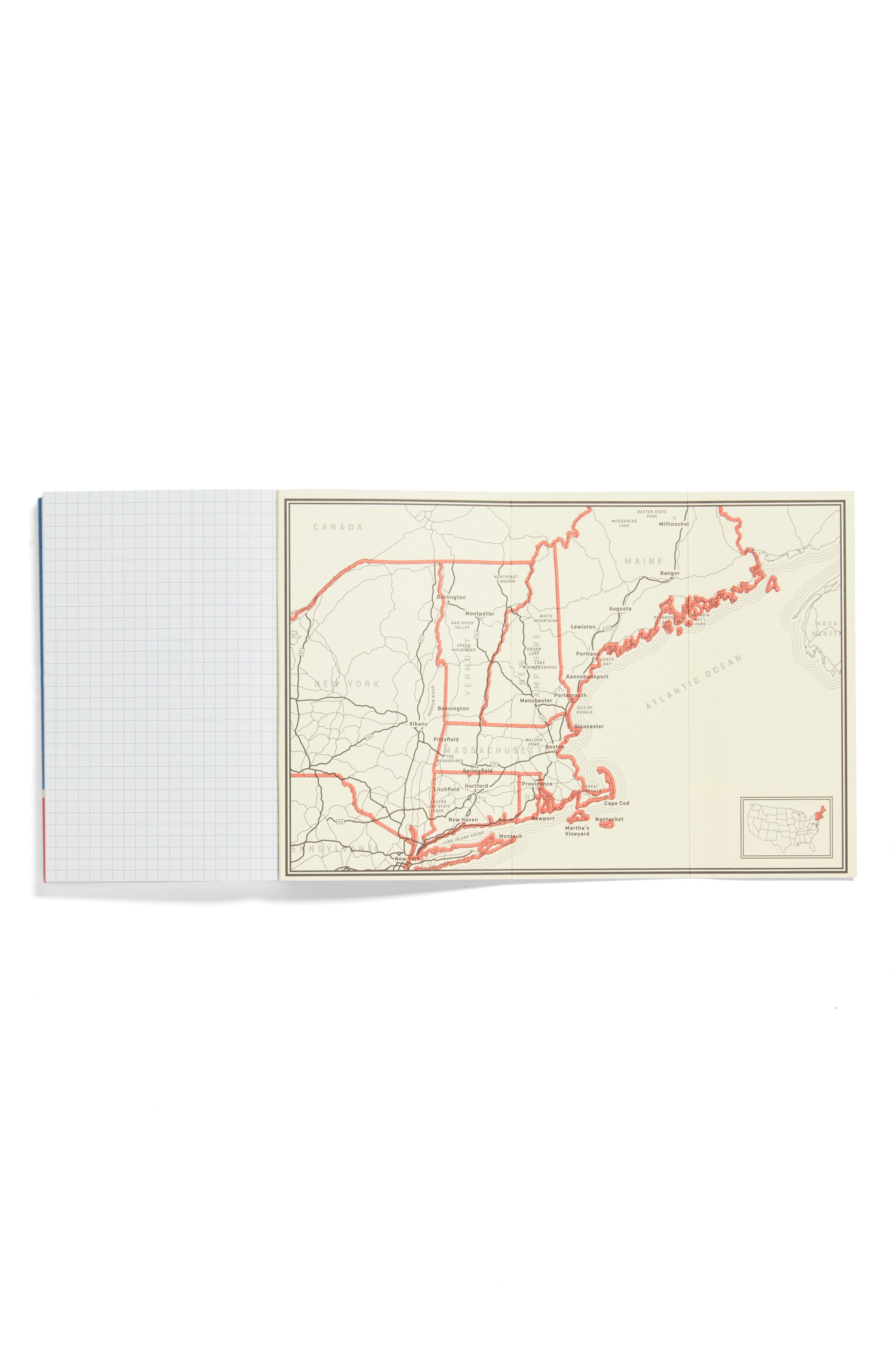 New England Road Trip Guide Book,                             Alternate thumbnail 3, color,                             NEW ENGLAND