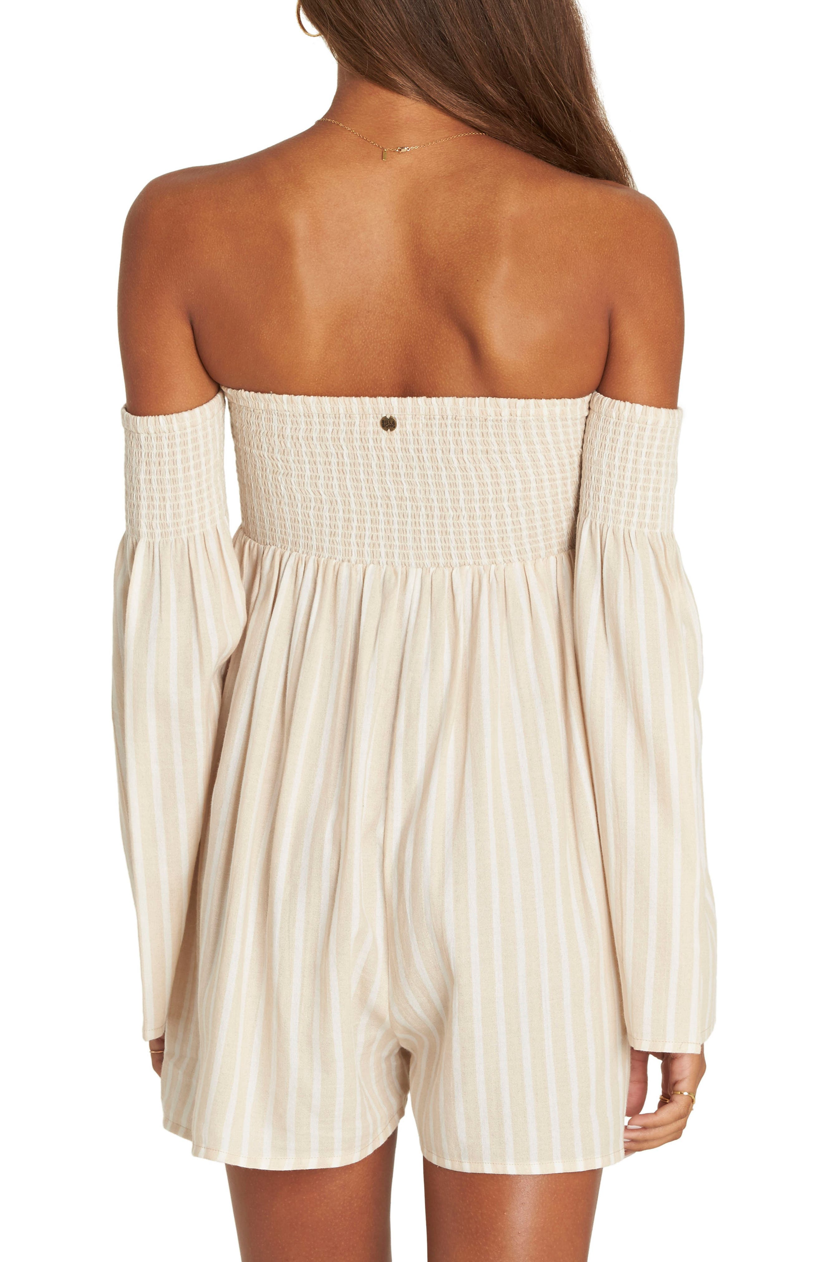 Fox on the Run Off the Shoulder Romper,                             Alternate thumbnail 2, color,                             250