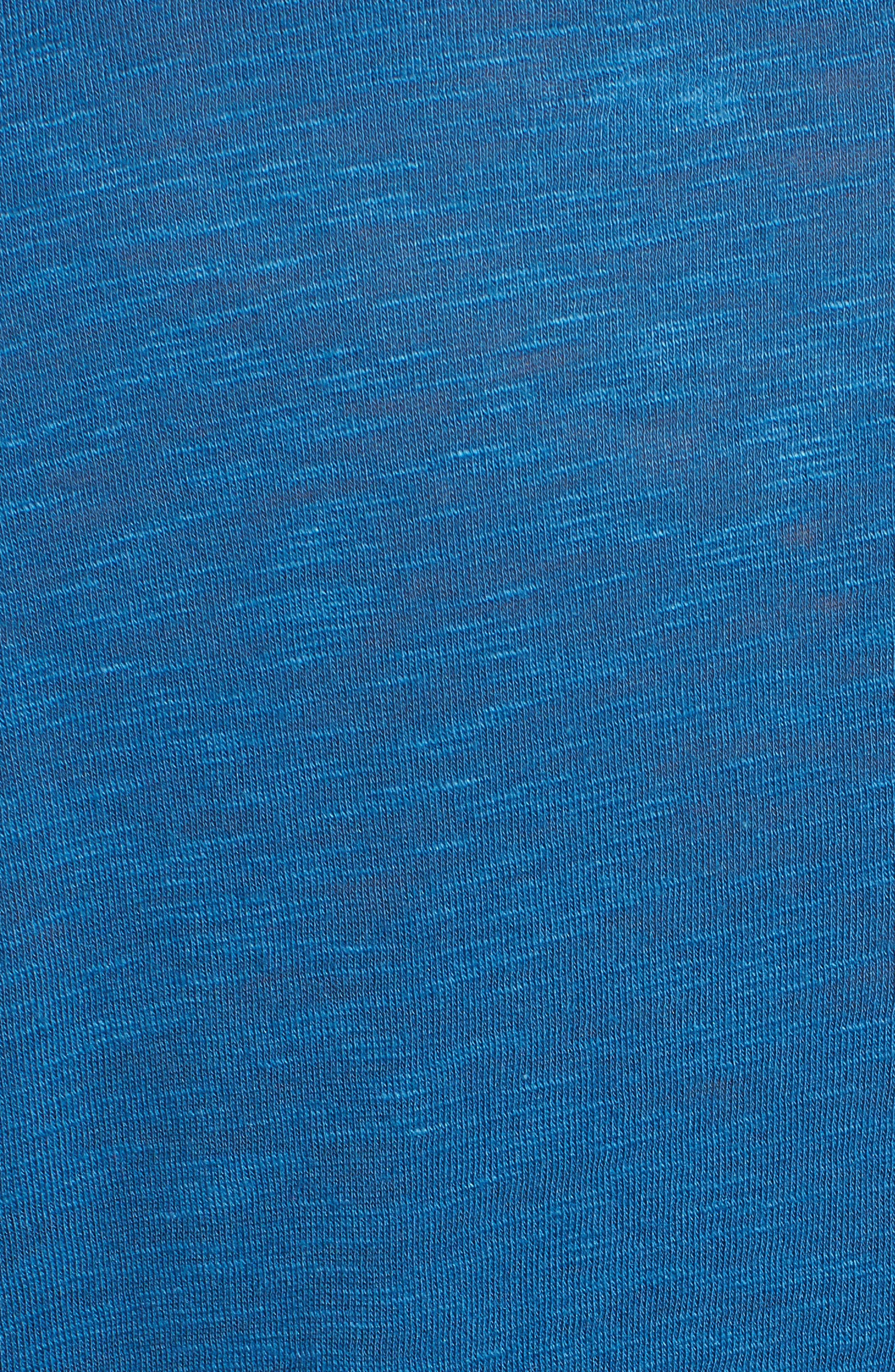 Long Sleeve Crewneck Tee,                             Alternate thumbnail 7, color,                             BLUE DARK