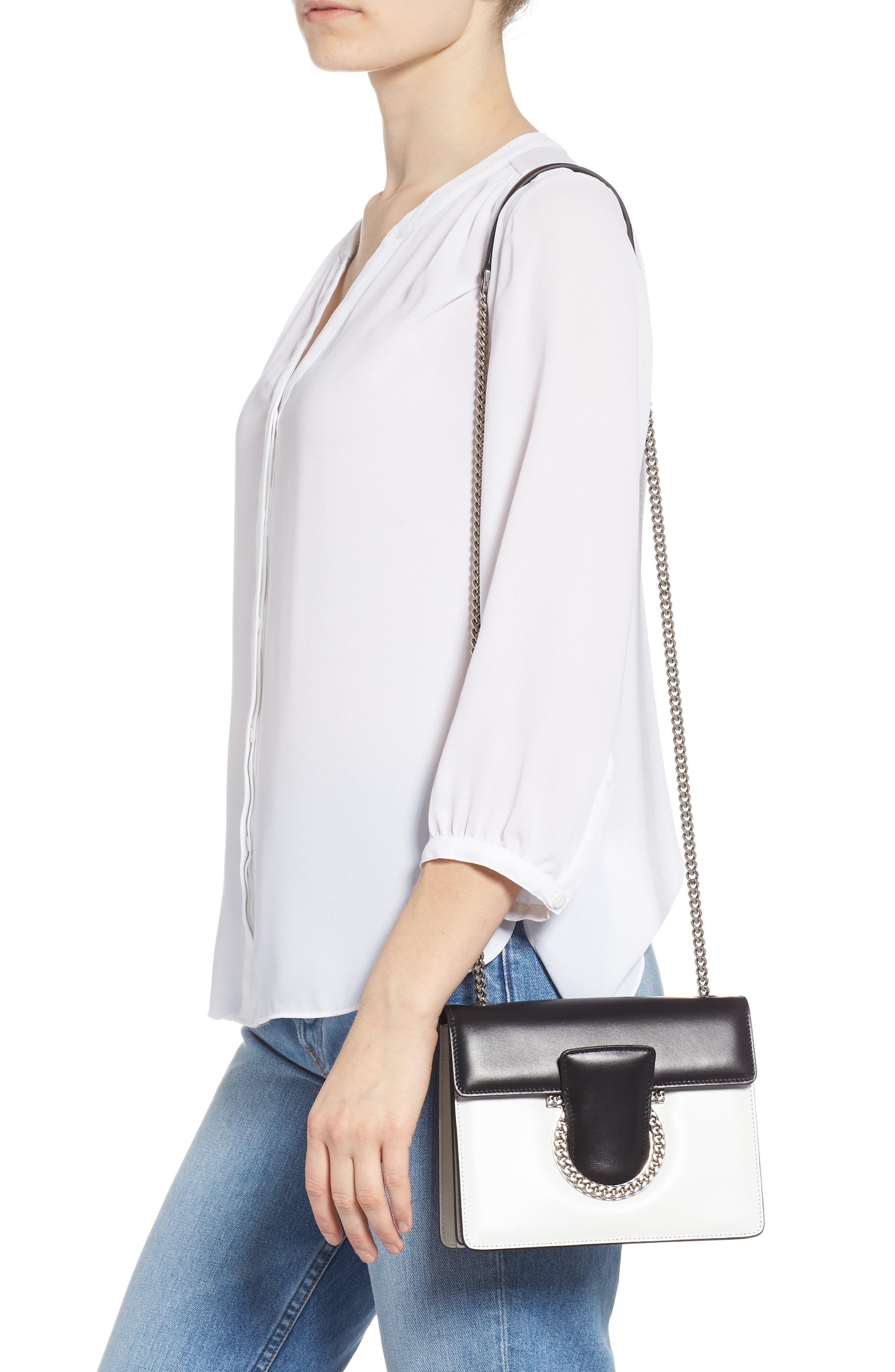 Small Thalia Leather Shoulder Bag,                             Alternate thumbnail 2, color,                             WHITE