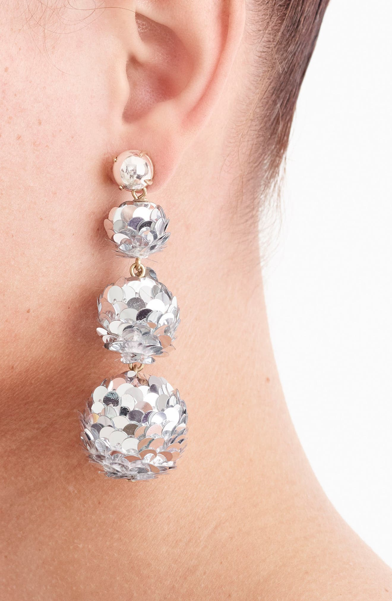 Sequin Ball Drop Earrings,                             Alternate thumbnail 2, color,                             040