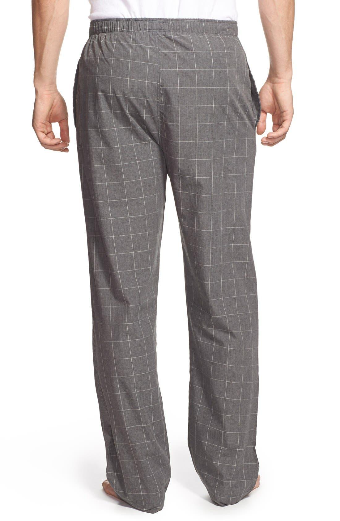 Cotton Pajama Pants,                             Alternate thumbnail 2, color,                             CHARCOAL