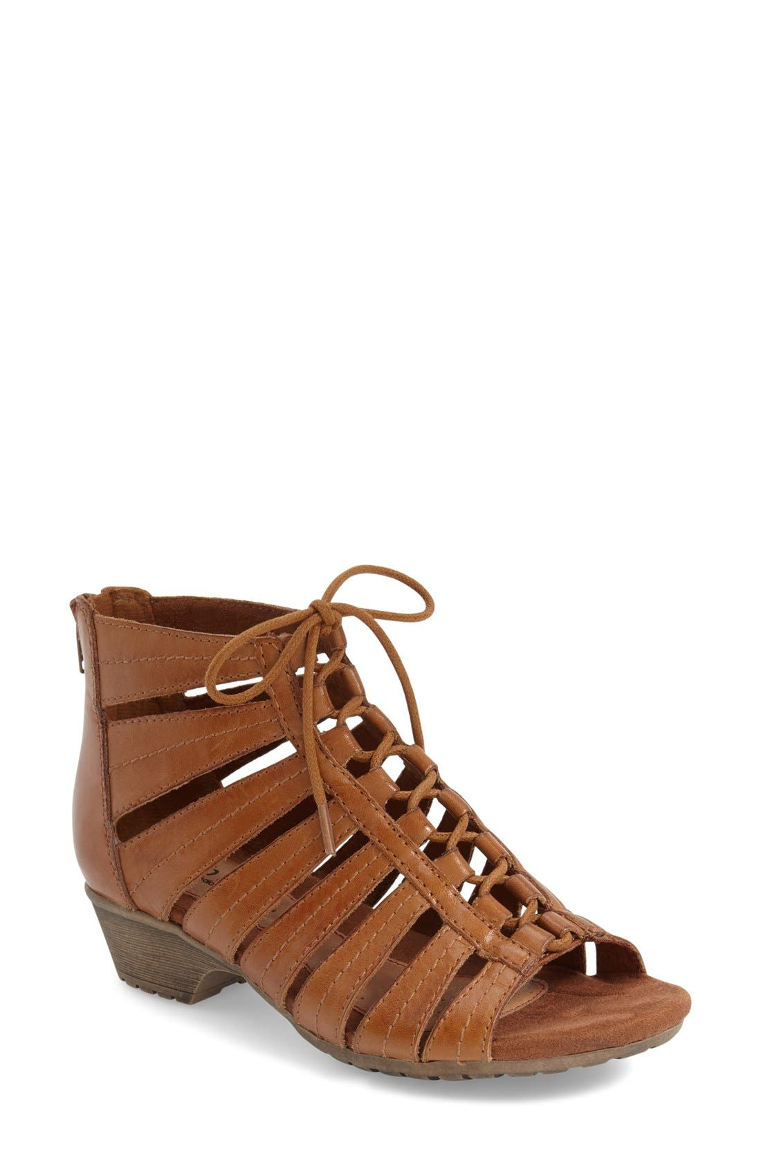 'Gabby' Lace-Up Sandal,                             Main thumbnail 5, color,