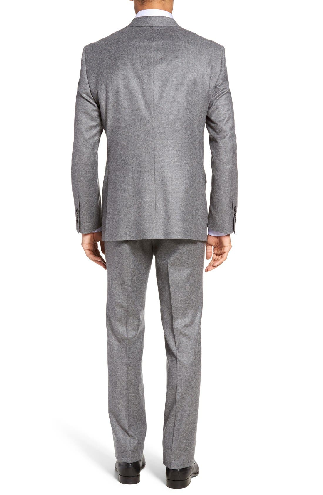 Beckett Classic Fit Solid Wool & Cashmere Suit,                             Alternate thumbnail 3, color,                             050