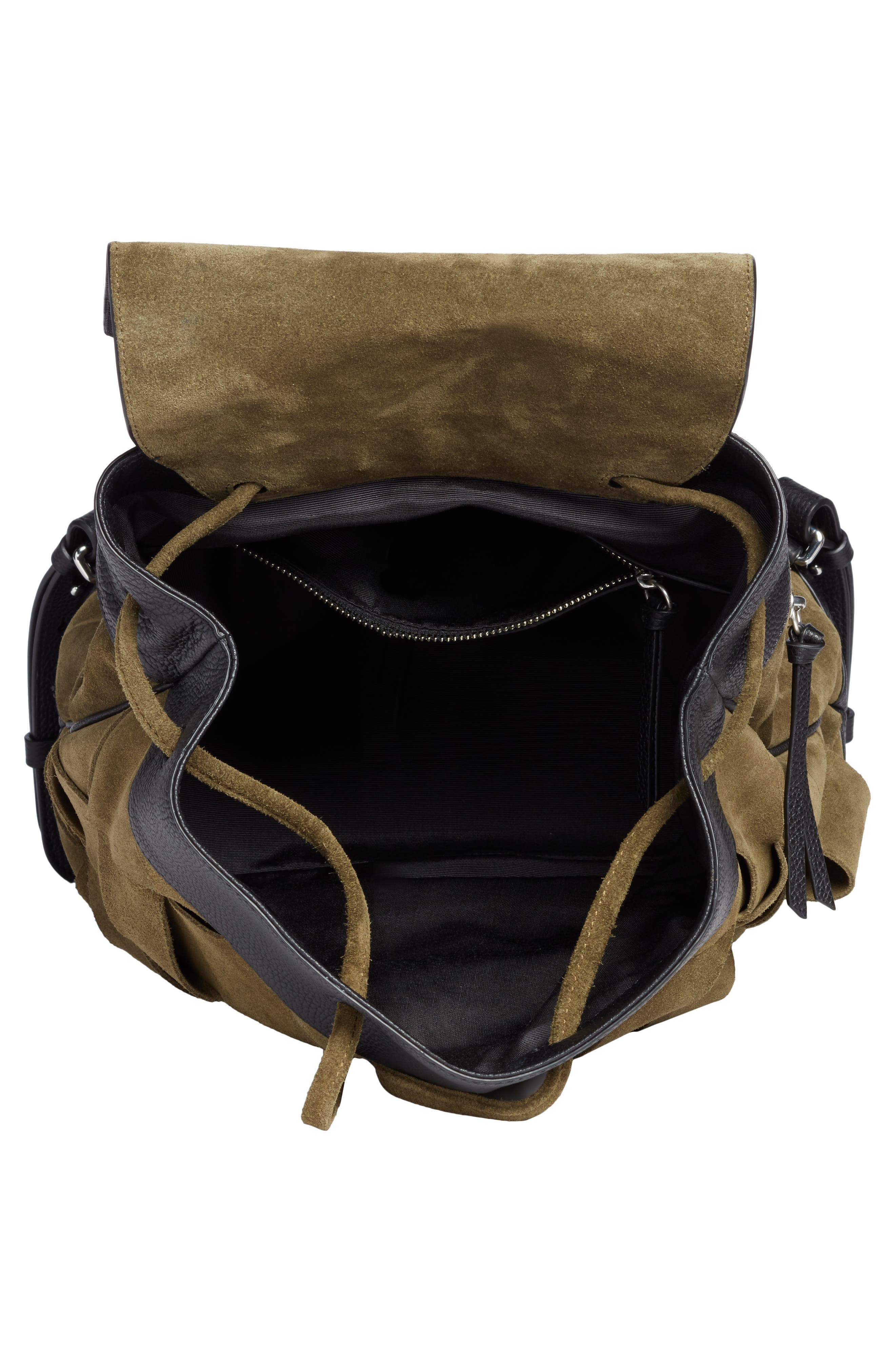 Pilot Suede & Leather Backpack,                             Alternate thumbnail 4, color,                             300