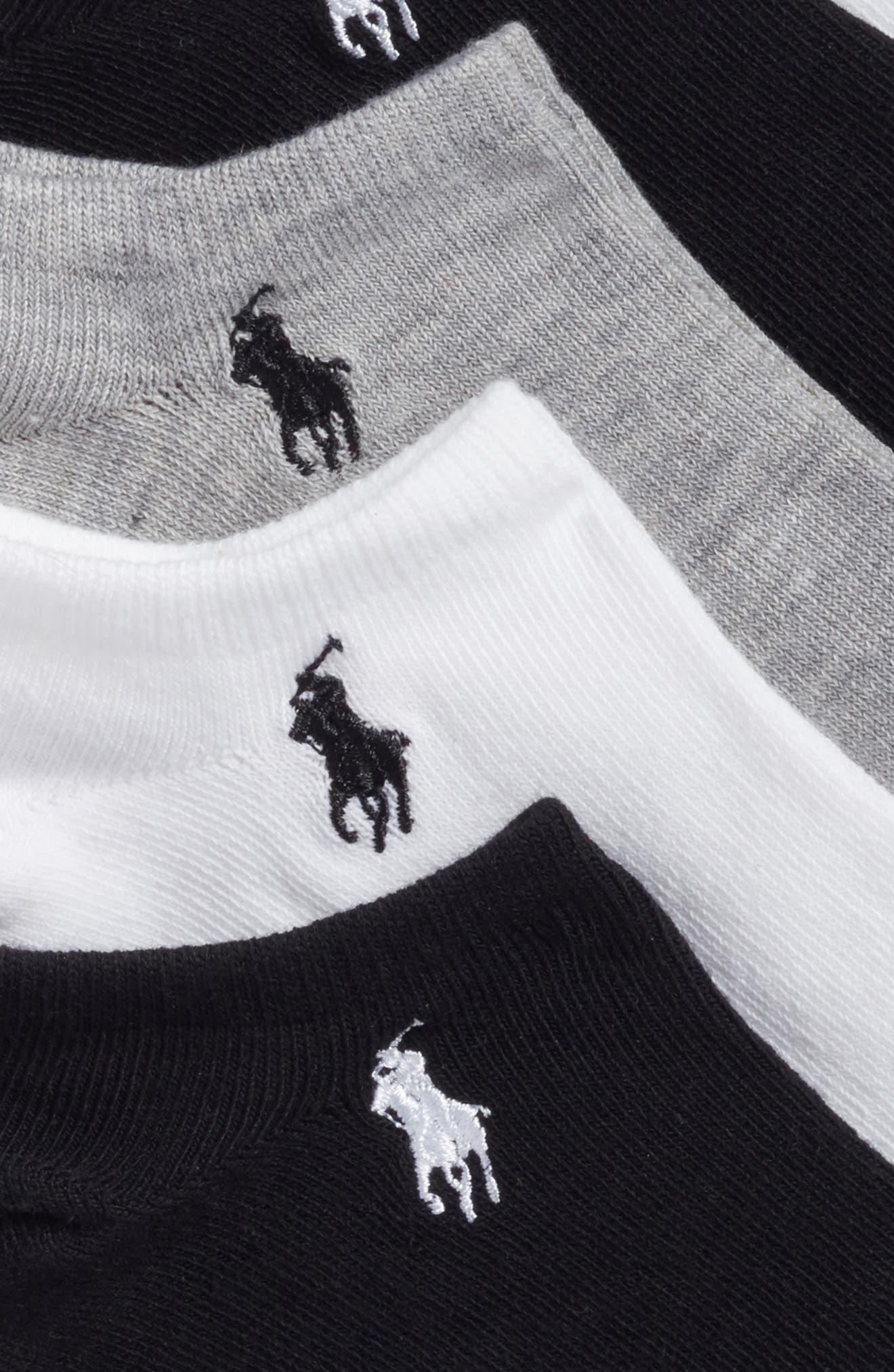 6-Pack Ankle Socks,                             Alternate thumbnail 3, color,                             100
