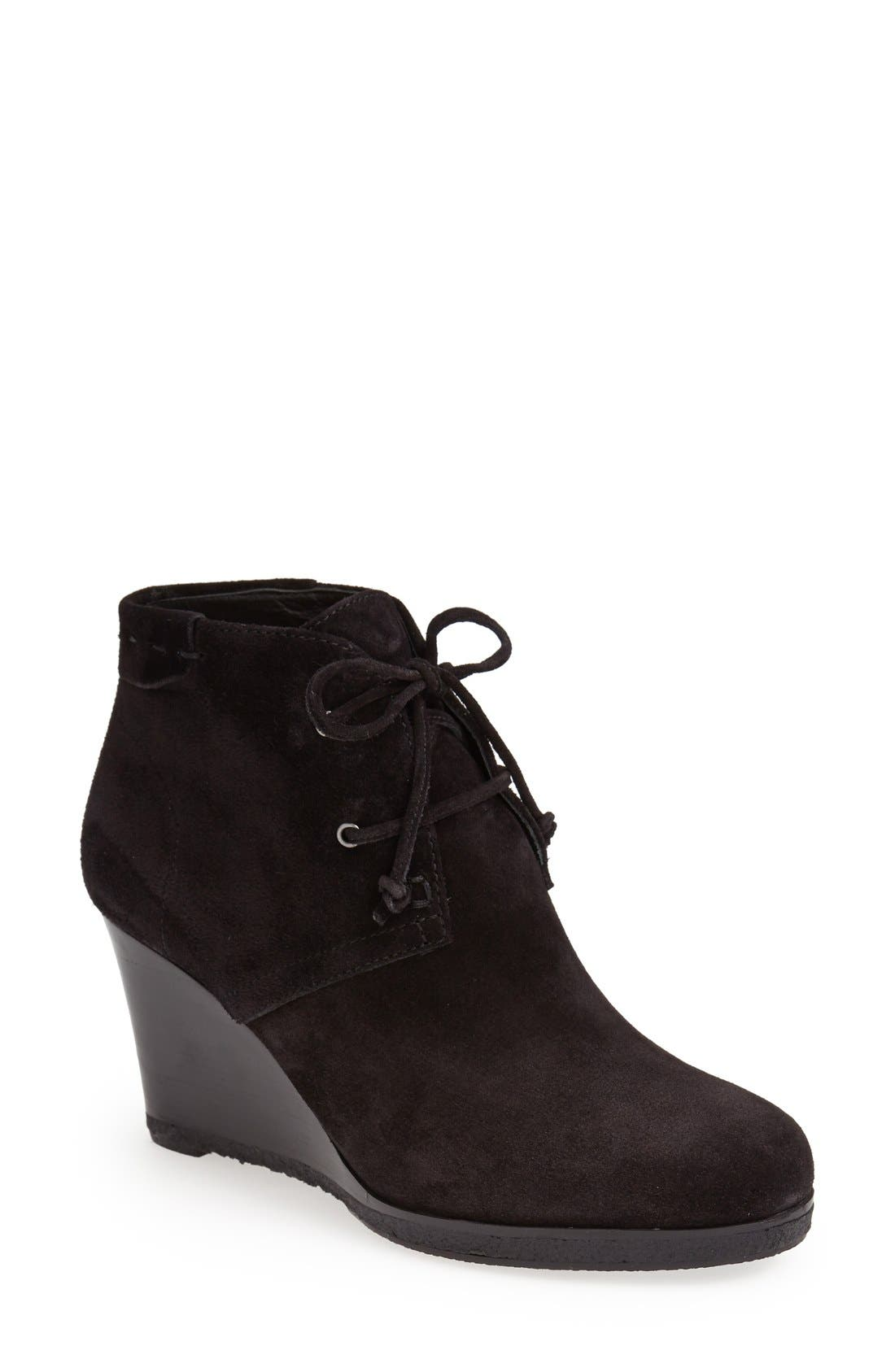 'Mirren' Wedge Bootie, Main, color, 002