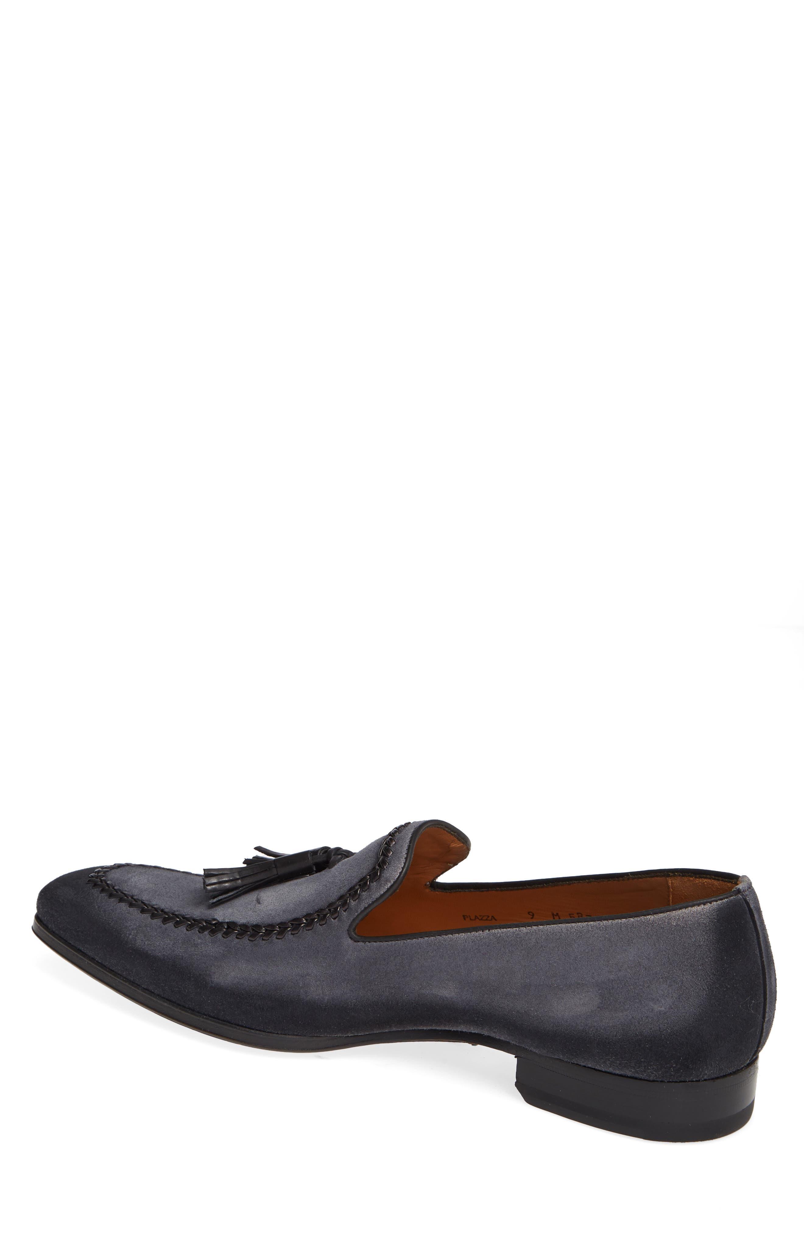 Plazza Tasseled Venetian Loafer,                             Alternate thumbnail 2, color,                             GREY SUEDE