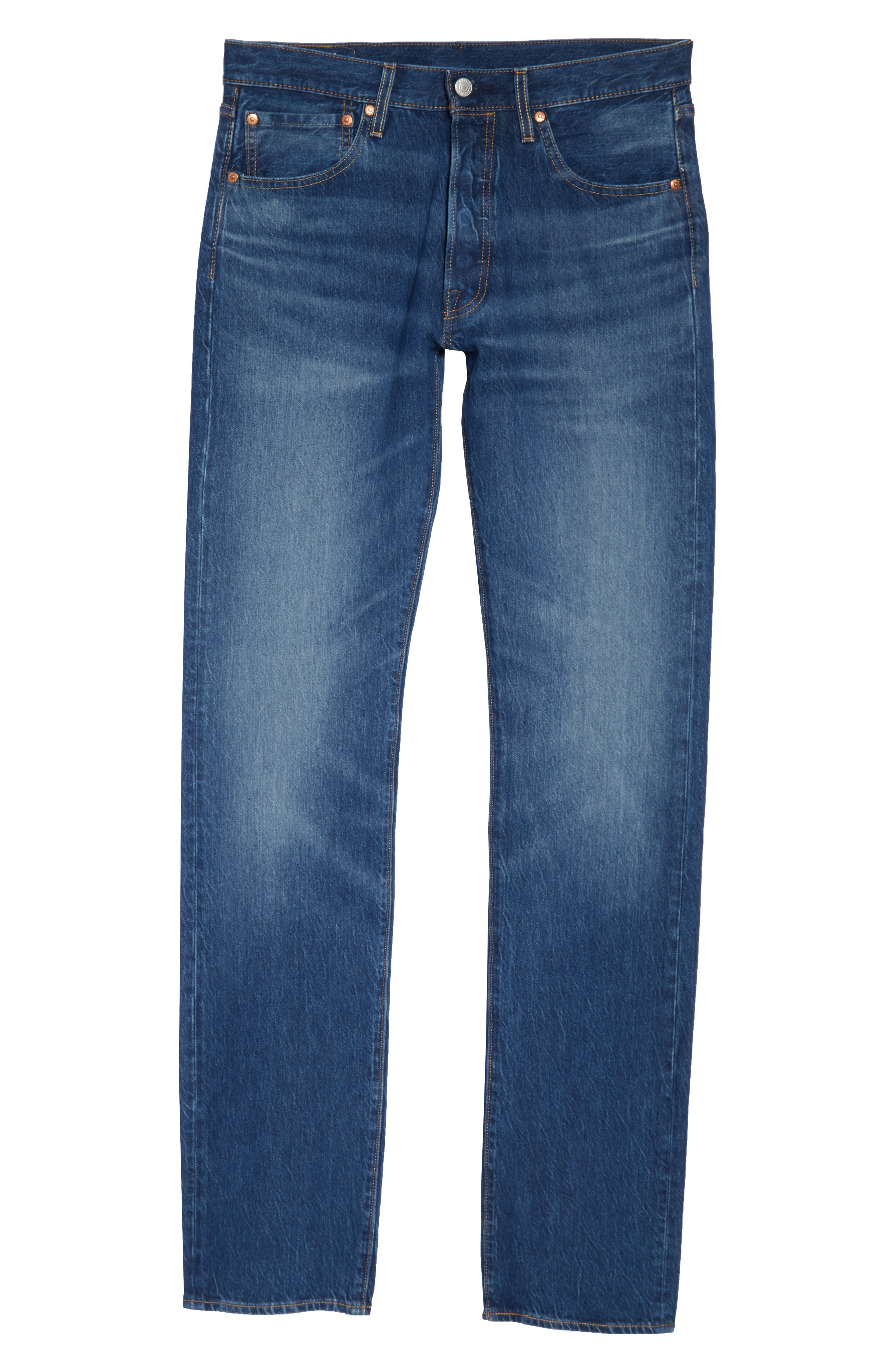 LEVI'S<SUP>®</SUP>,                             501<sup>®</sup> Straight Leg Jeans,                             Alternate thumbnail 4, color,                             DAIRY WHIPPED