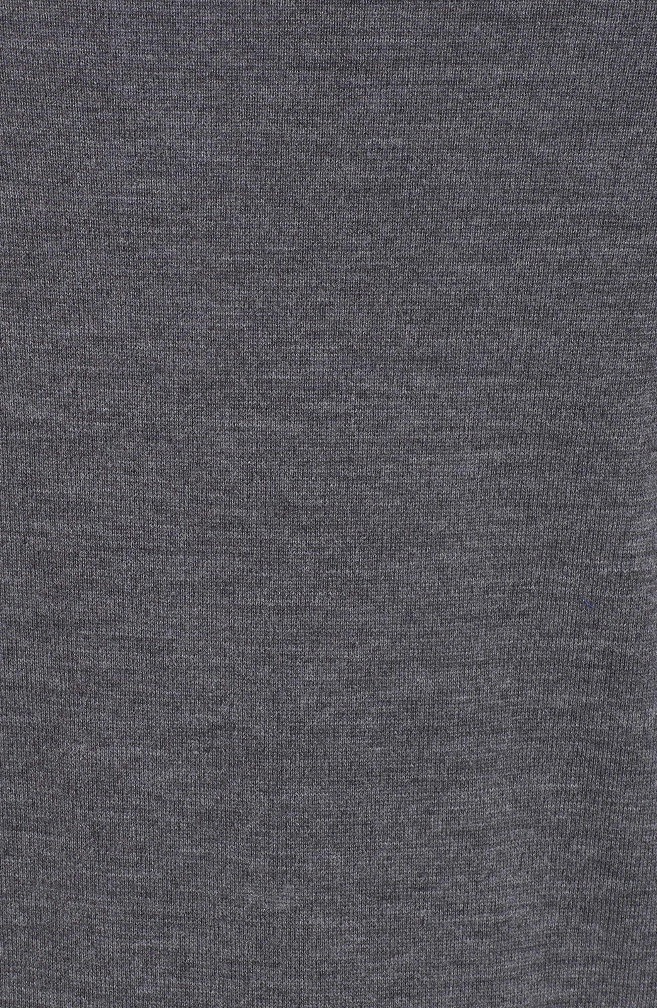 Wool Quarter Zip Pullover,                             Alternate thumbnail 5, color,                             CHARCOAL