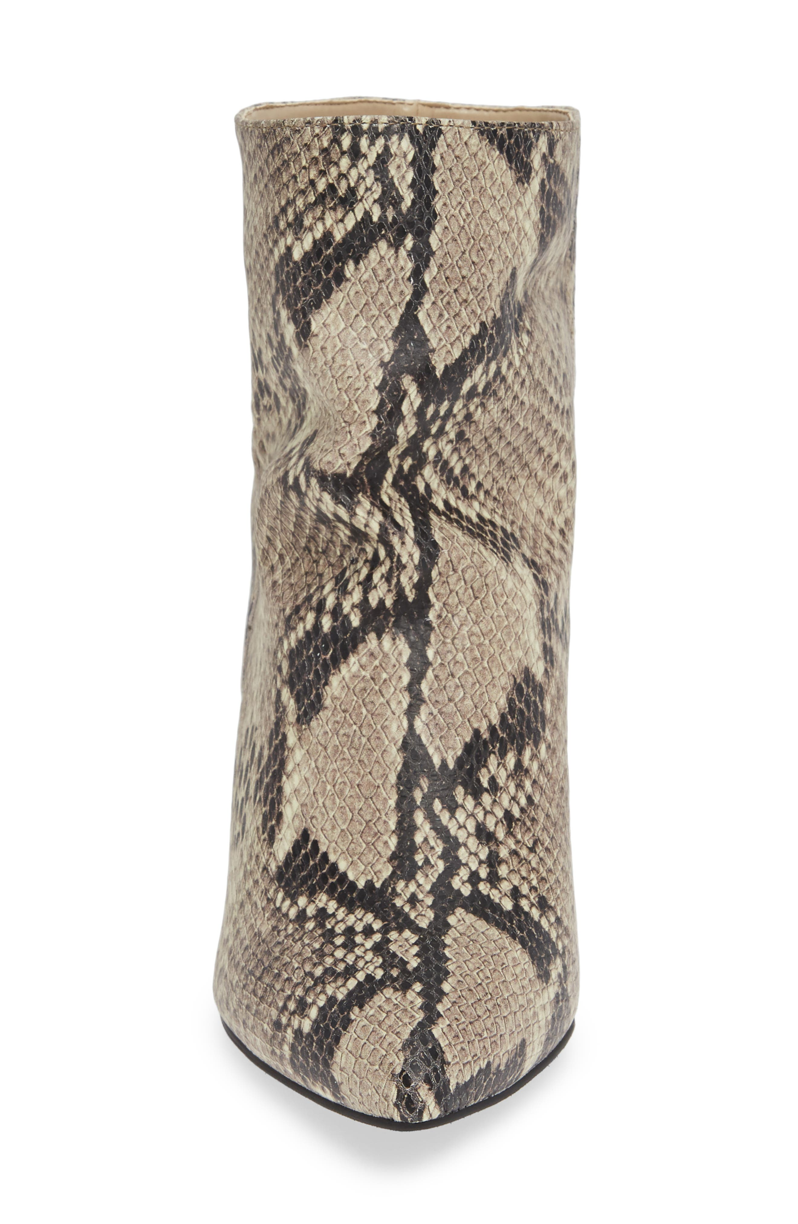 Scope Bootie,                             Alternate thumbnail 4, color,                             PRINTED NATURAL SNAKE LEATHER