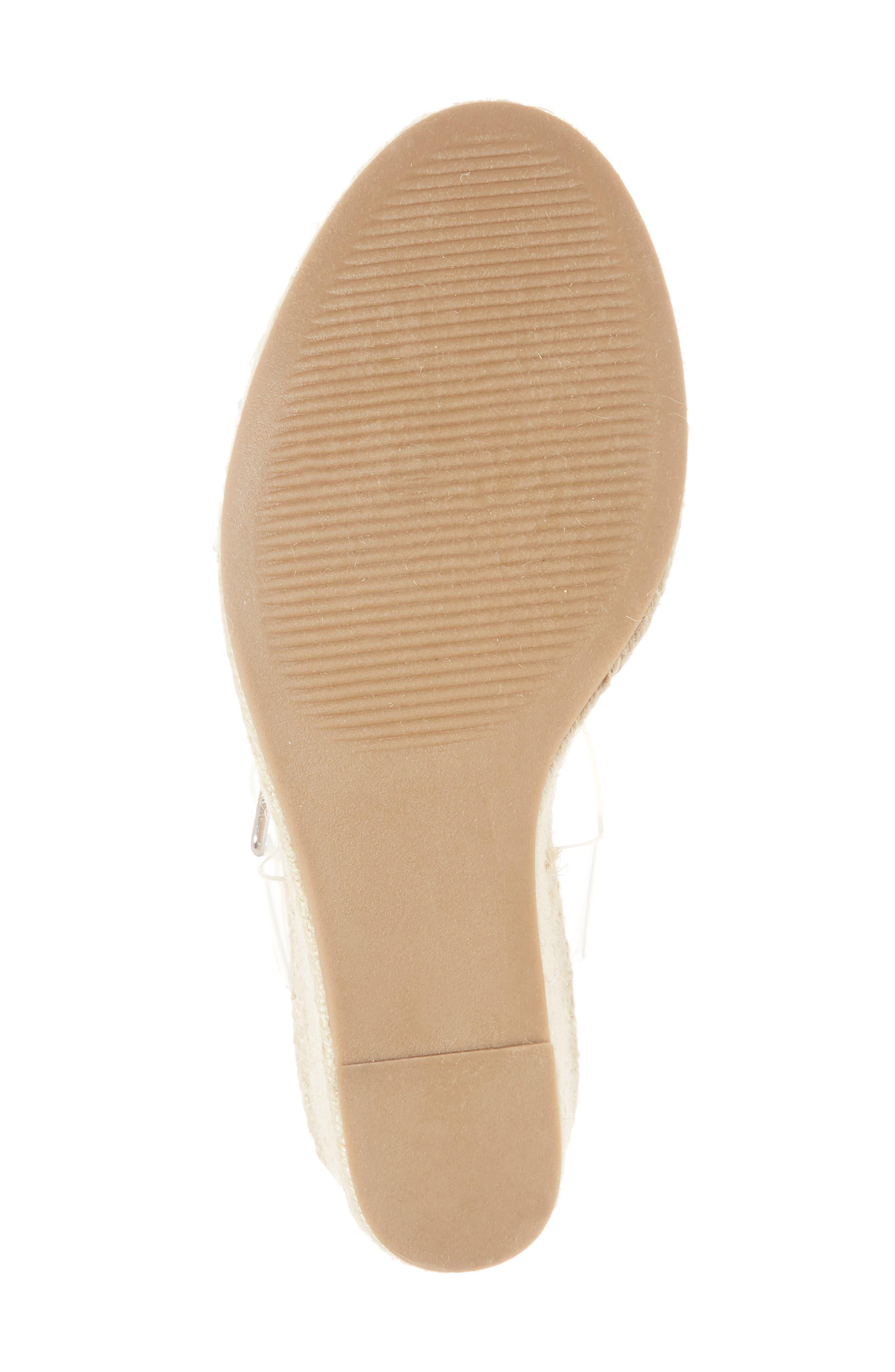 Splash Transparent Strap Wedge Sandal,                             Alternate thumbnail 6, color,                             250