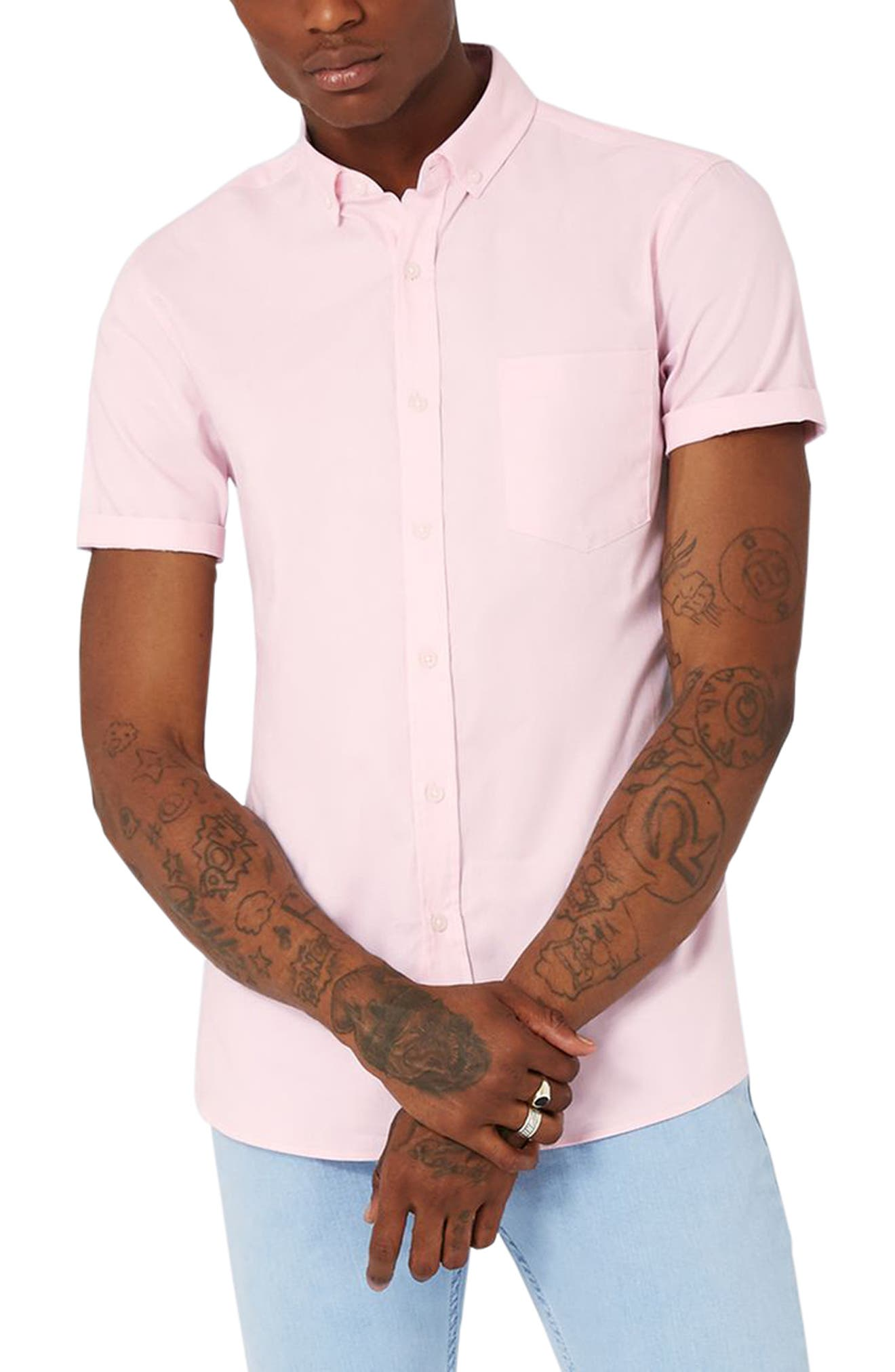 Slim Fit Stretch Oxford Shirt,                             Main thumbnail 1, color,