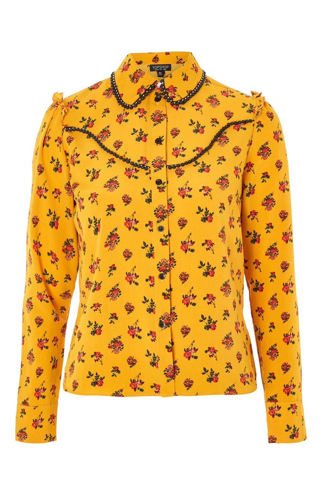 Rodeo Floral Retro Shirt,                             Alternate thumbnail 4, color,                             701