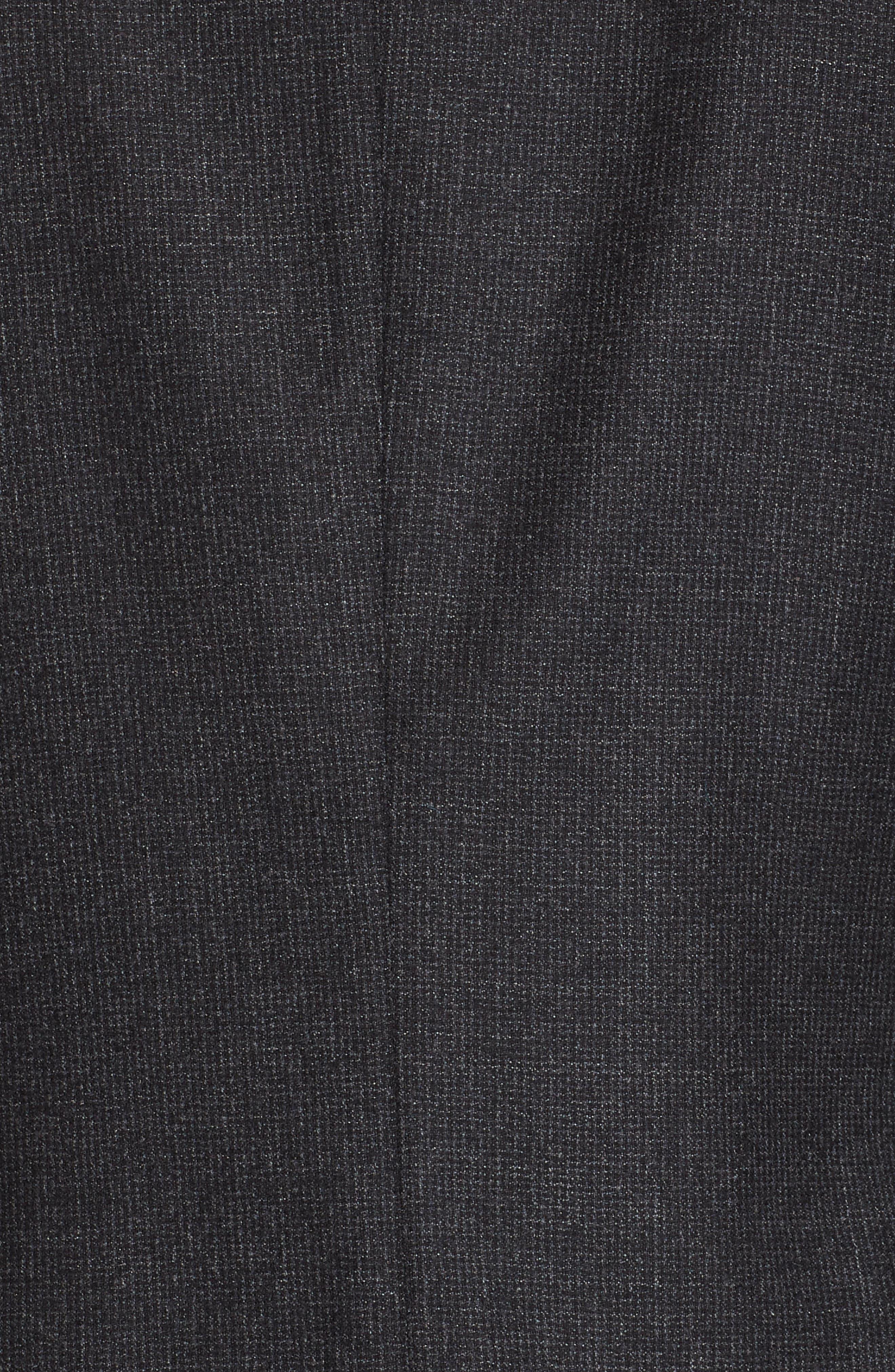 Trim Fit Wash & Go Solid Wool Suit,                             Alternate thumbnail 7, color,                             GREY
