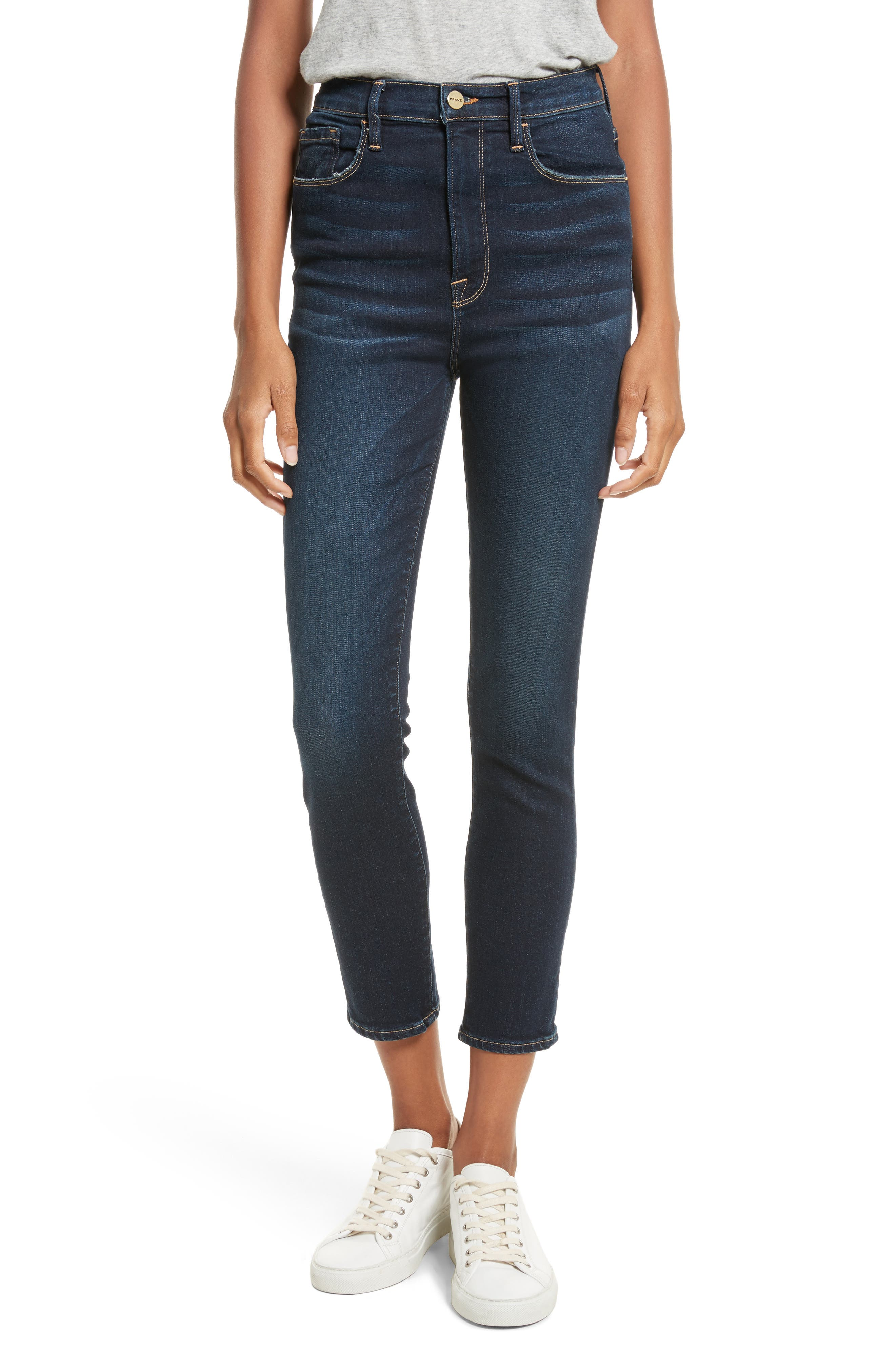 Ali High Waist Ankle Skinny Jeans,                             Main thumbnail 1, color,                             402