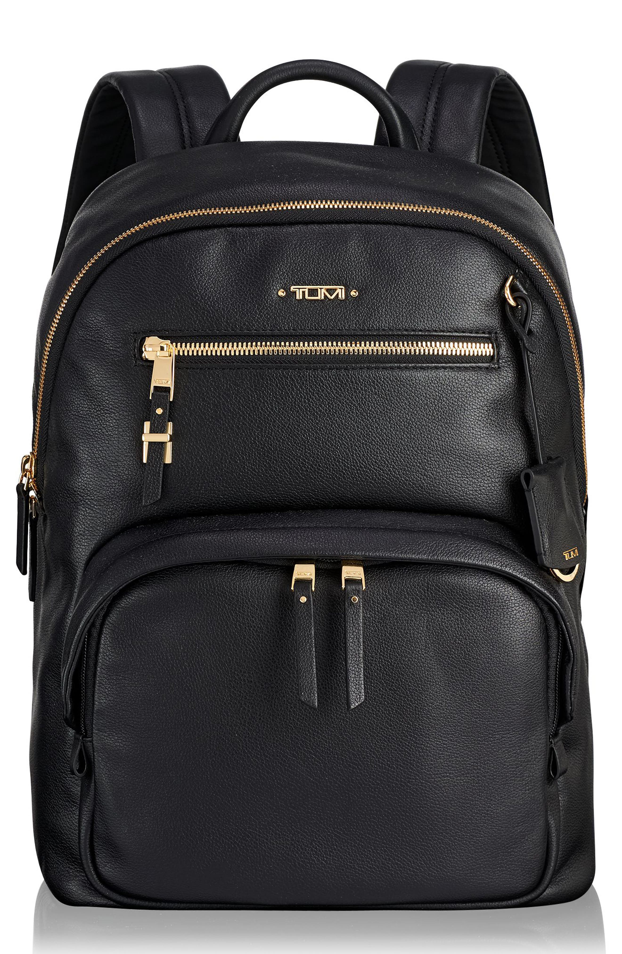 Voyageur Hagen Leather Backpack,                         Main,                         color, 001