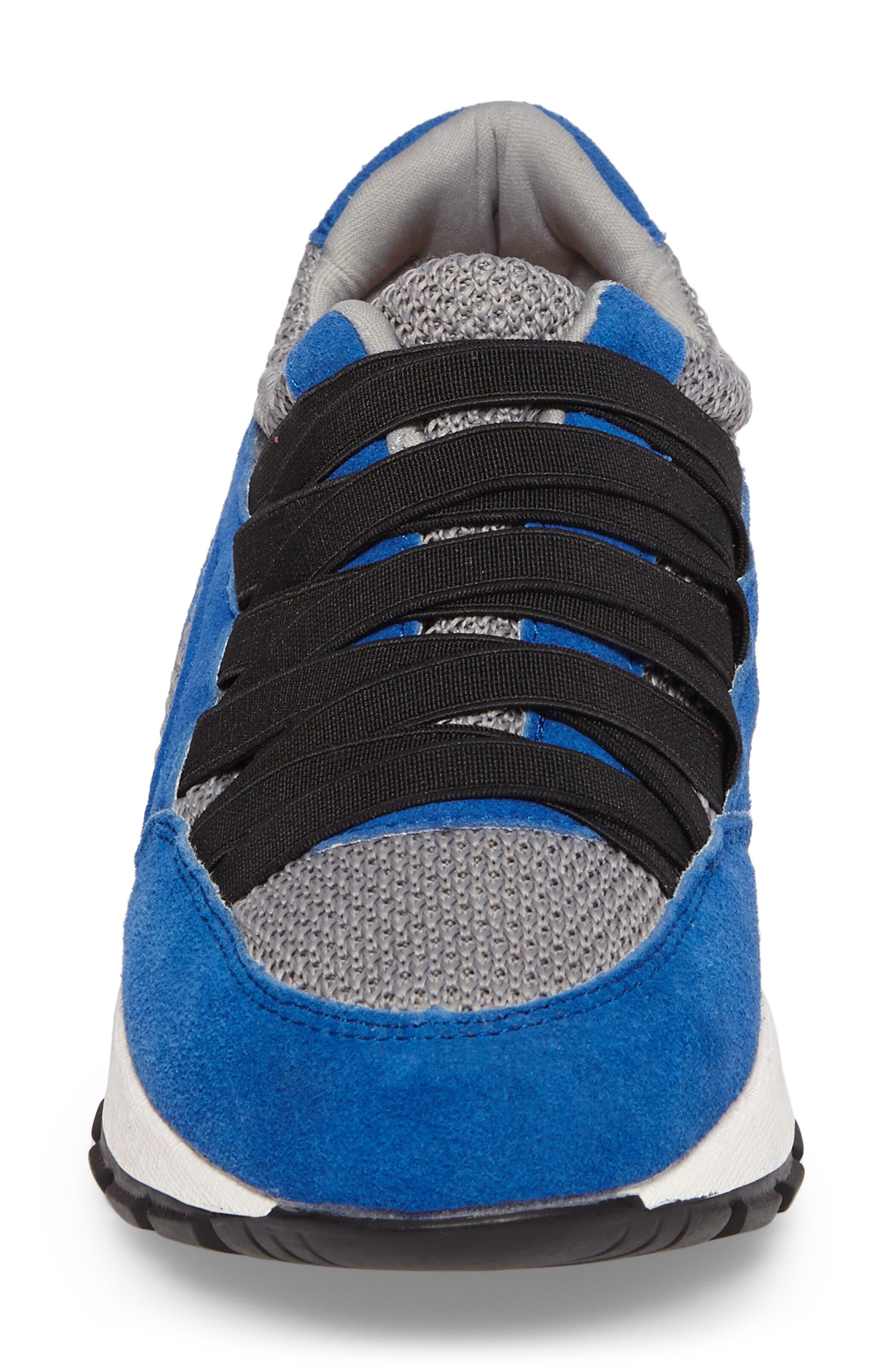 Bernie Mev Tara Cano Sneaker,                             Alternate thumbnail 4, color,                             ROYAL BLUE/ GREY FABRIC
