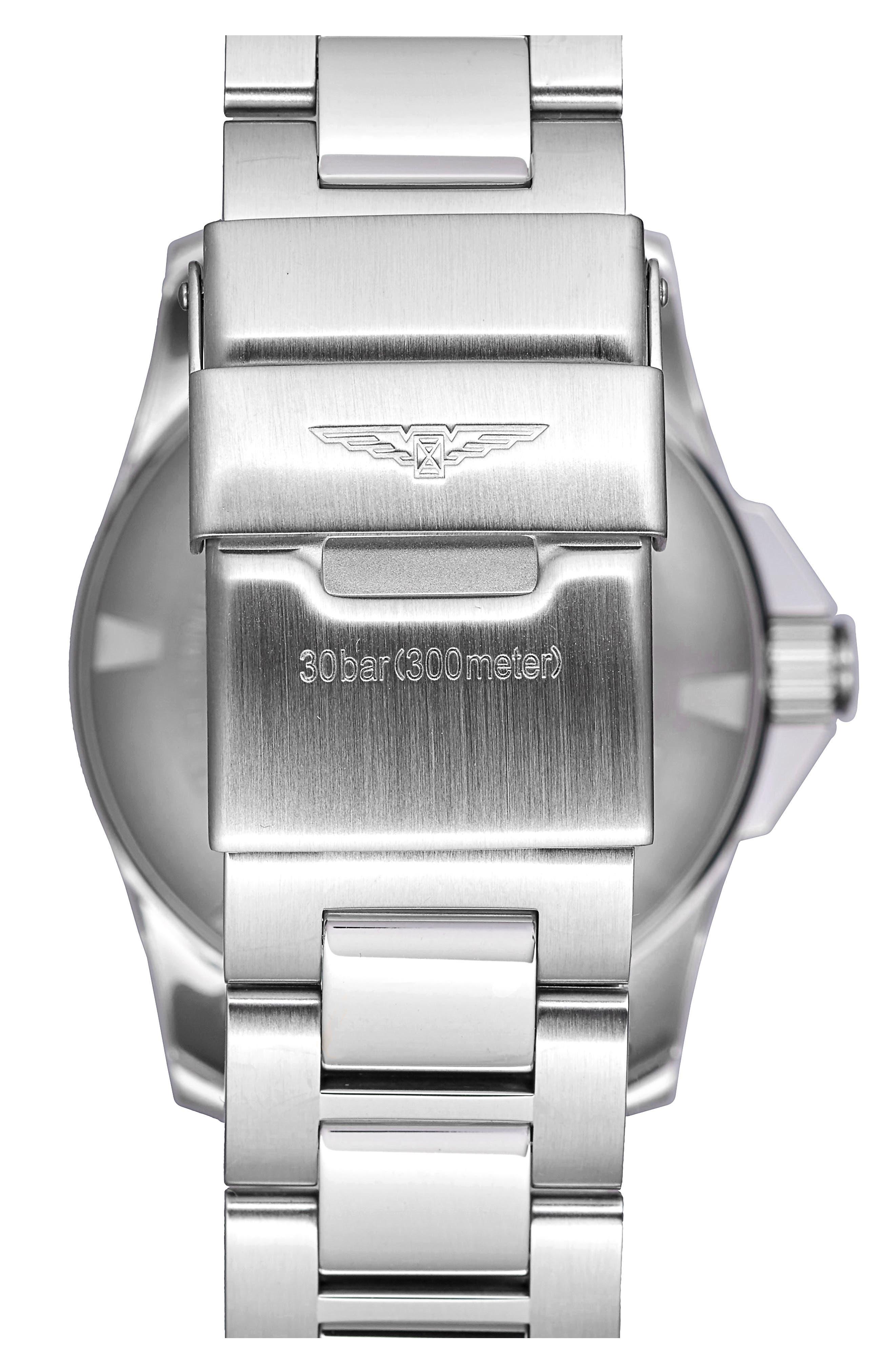 HydroConquest Bracelet Watch, 41mm,                             Alternate thumbnail 2, color,                             SILVER/ BLUE/ SILVER