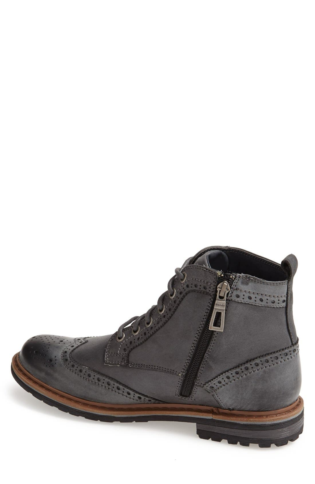 'Damien' Waterproof Wingtip Boot,                             Alternate thumbnail 2, color,