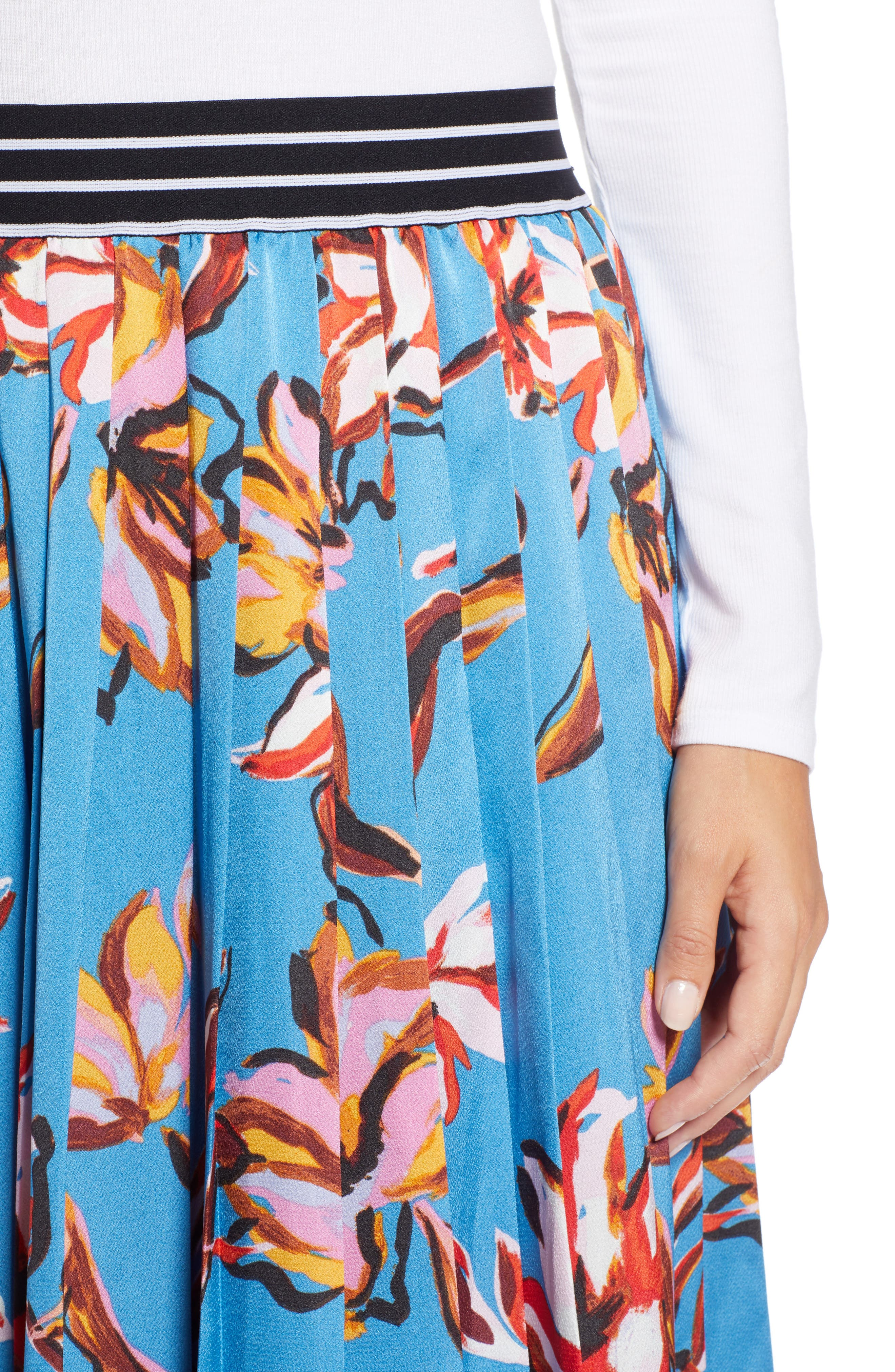 HALOGEN<SUP>®</SUP>,                             Printed Pleated Skirt,                             Alternate thumbnail 4, color,                             420