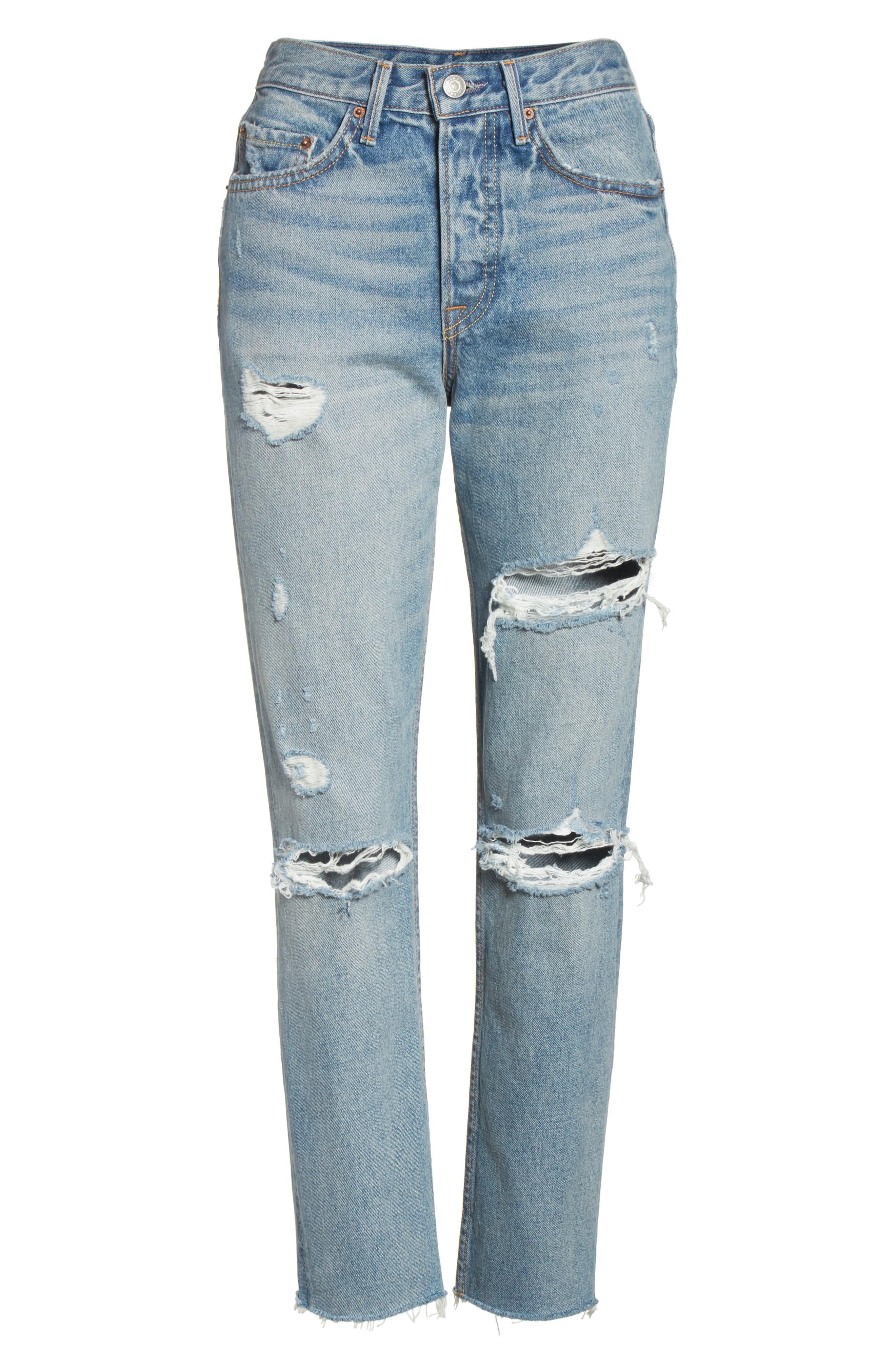 Karolina Rigid High Waist Skinny Jeans,                             Alternate thumbnail 7, color,                             A LITTLE MORE LOVE