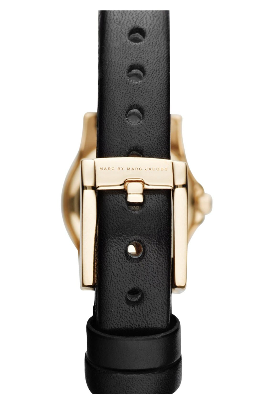 'Henry Dinky' Leather Strap Watch, 20mm,                             Alternate thumbnail 3, color,                             001