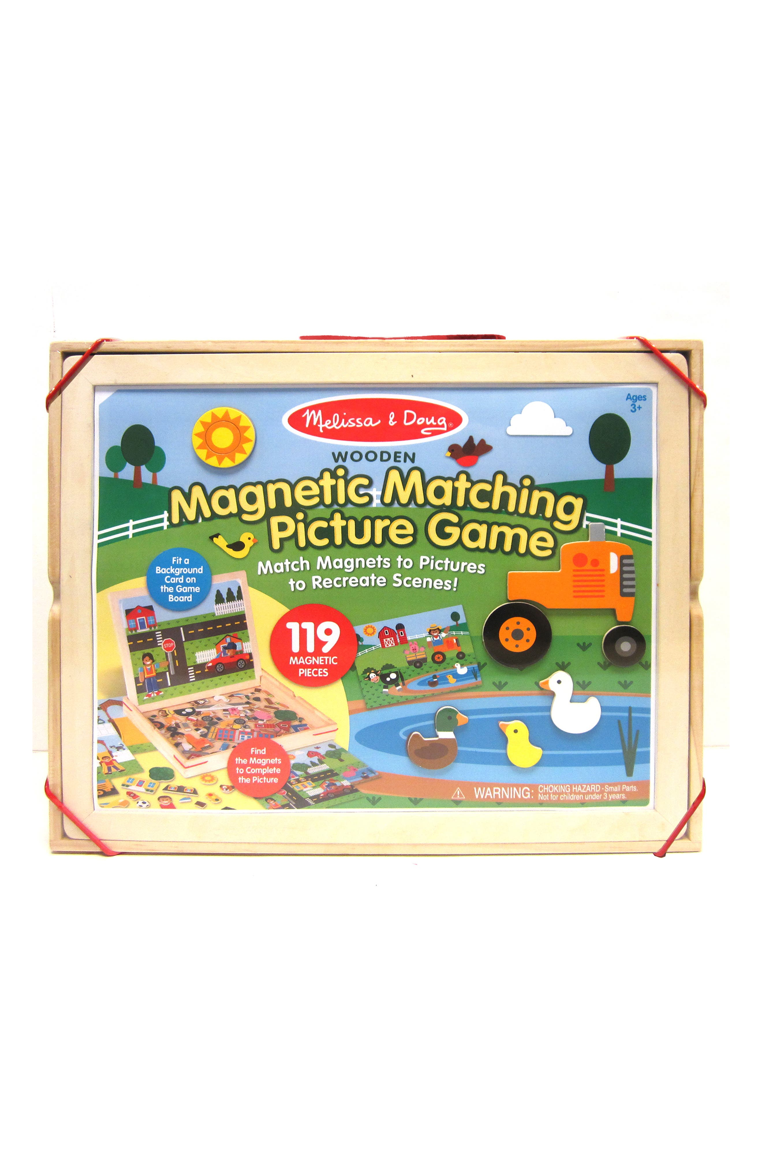 MELISSA & DOUG Wooden Magnetic Matching Picture Game Play Set, Main, color, 960
