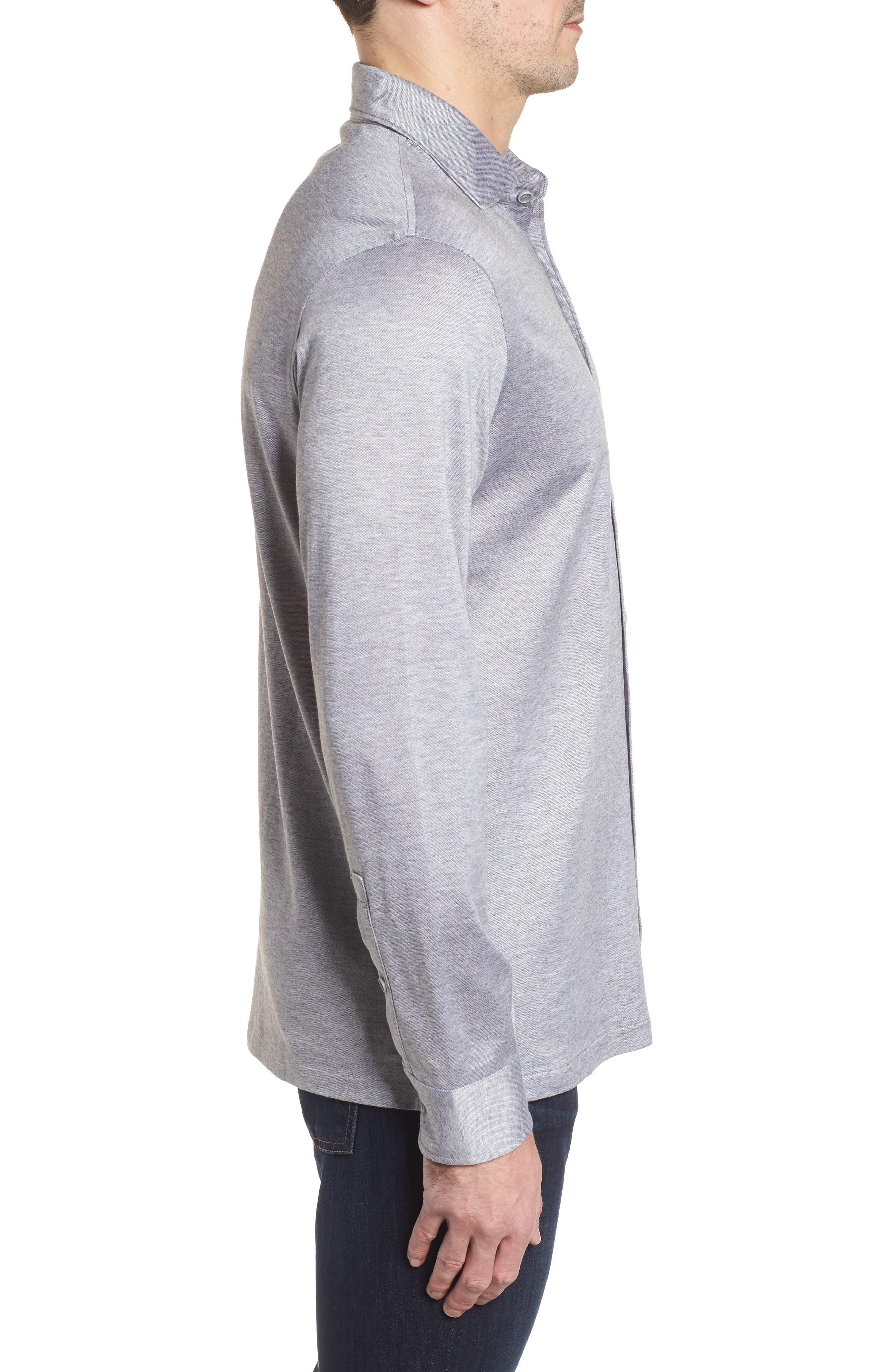 Regular Fit Silk Blend Sport Shirt,                             Alternate thumbnail 12, color,