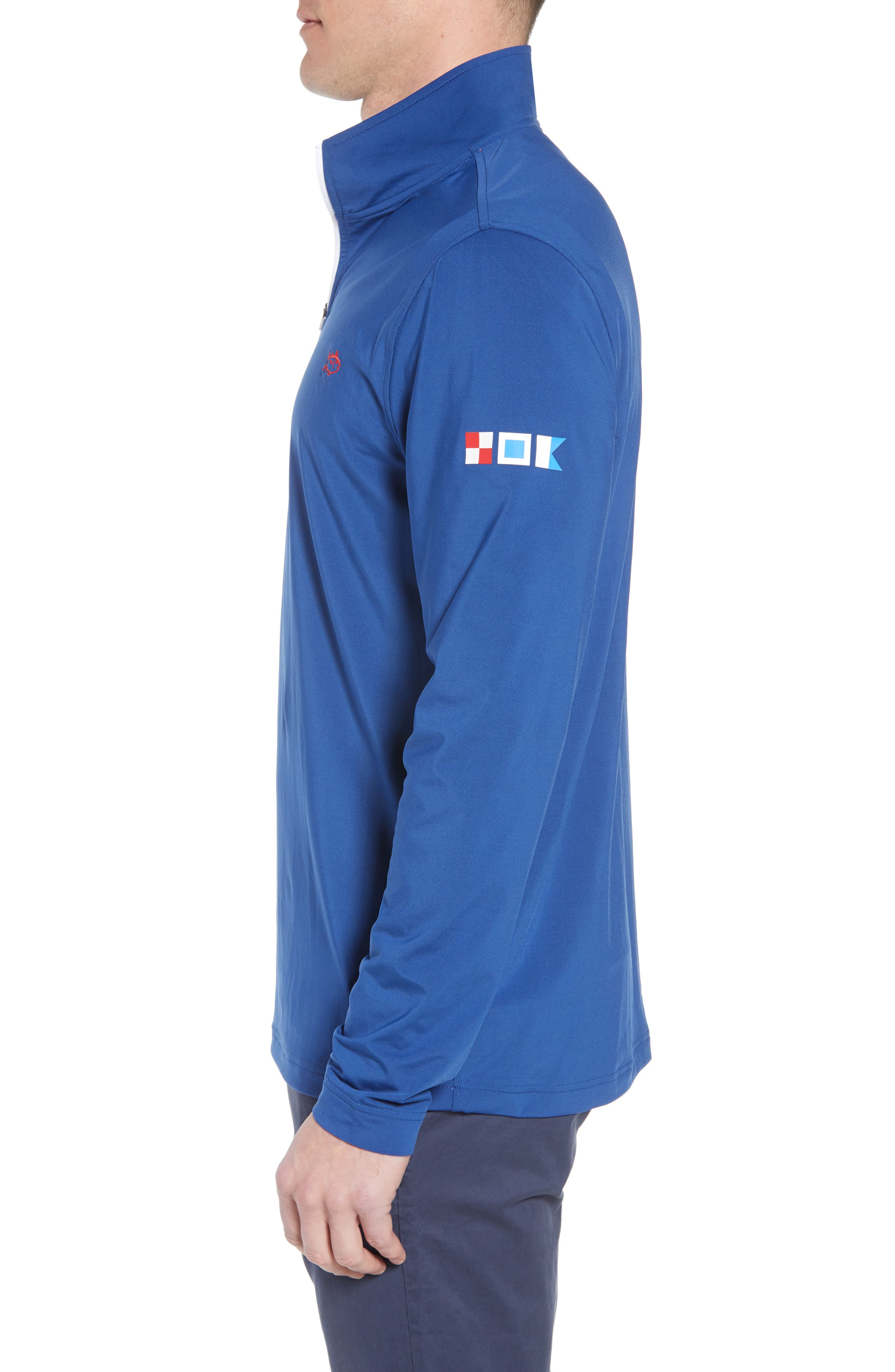 USA Performance Quarter-Zip Pullover,                             Alternate thumbnail 3, color,                             400