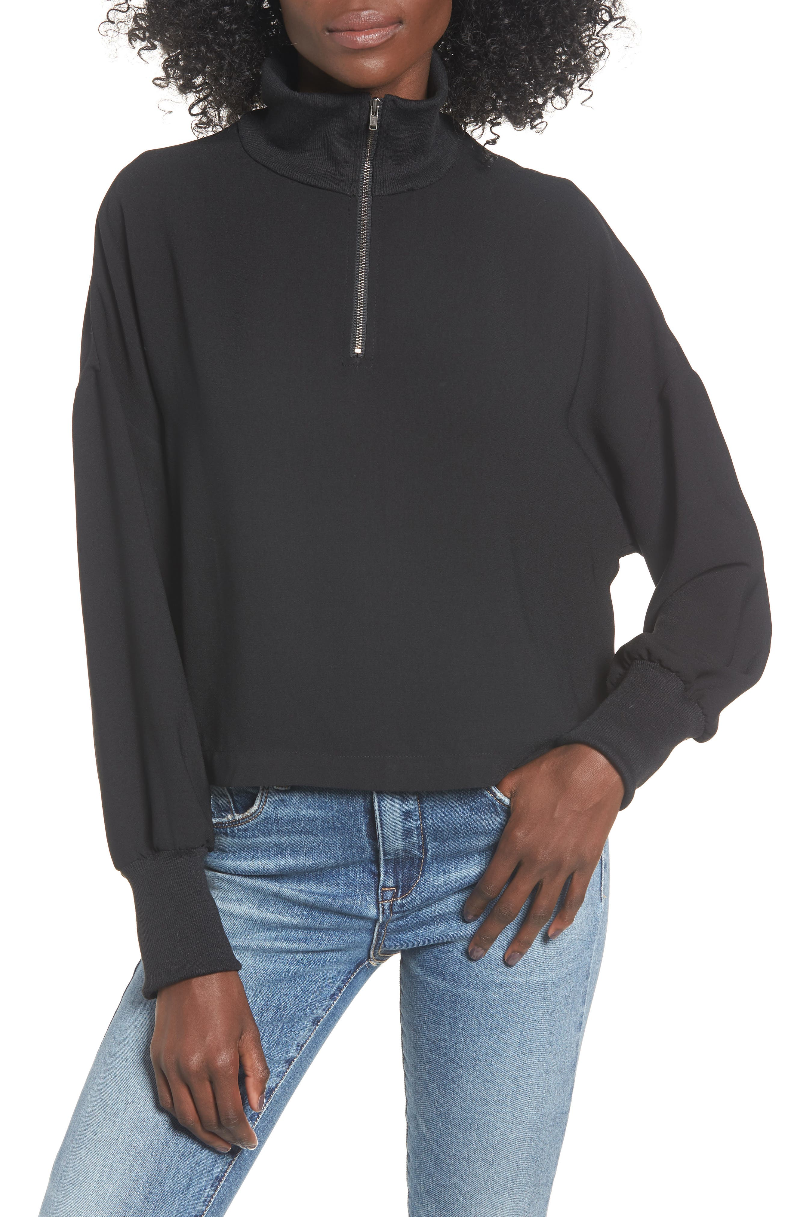 Bp. Quarter Zip Pullover, Black
