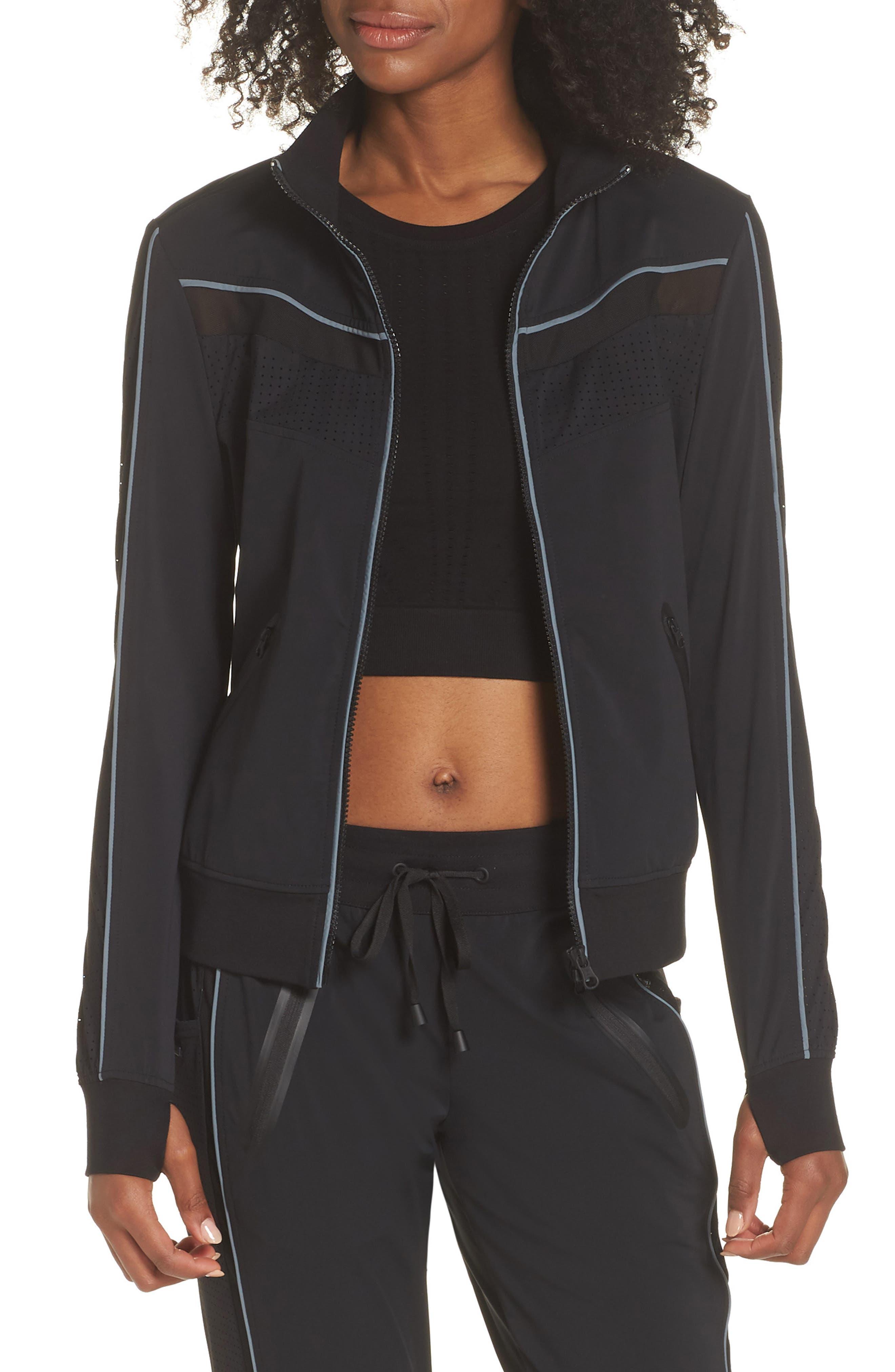 Jog Jacket,                         Main,                         color, BLACK