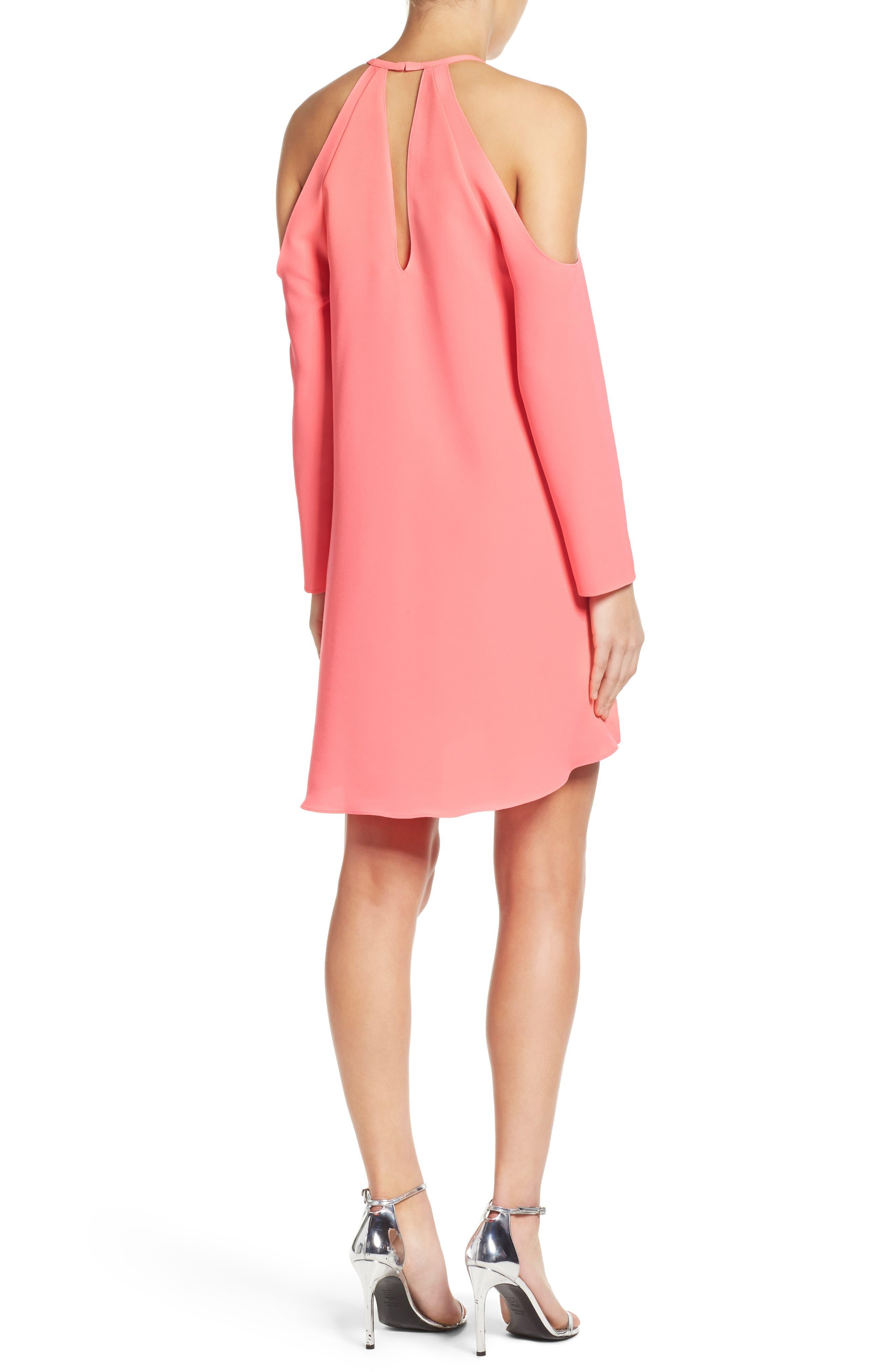 'Jasmine' Cold Shoulder Shift Dress,                             Alternate thumbnail 2, color,                             683
