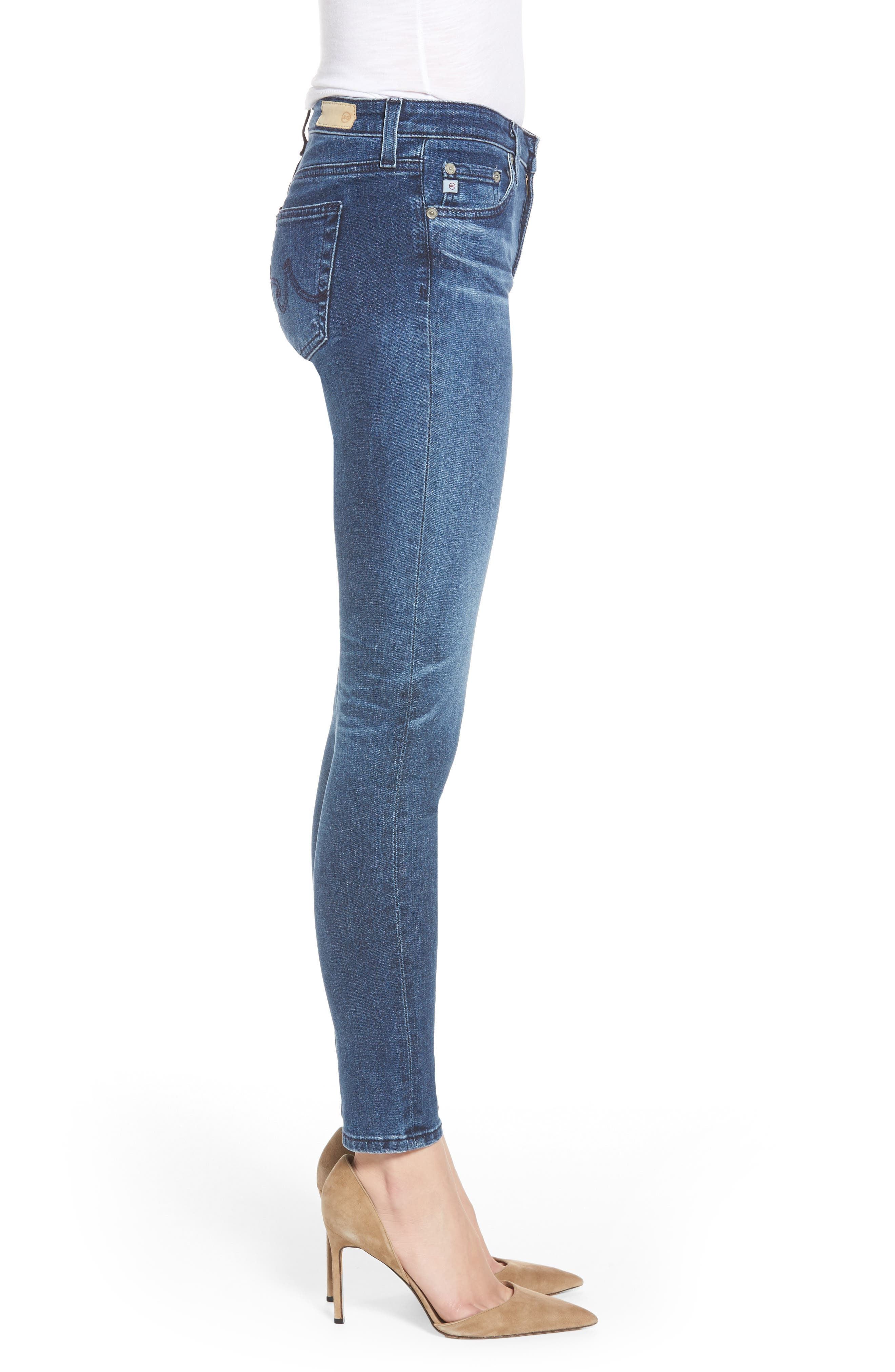 AG,                             The Legging Ankle Super Skinny Jeans,                             Alternate thumbnail 3, color,                             401