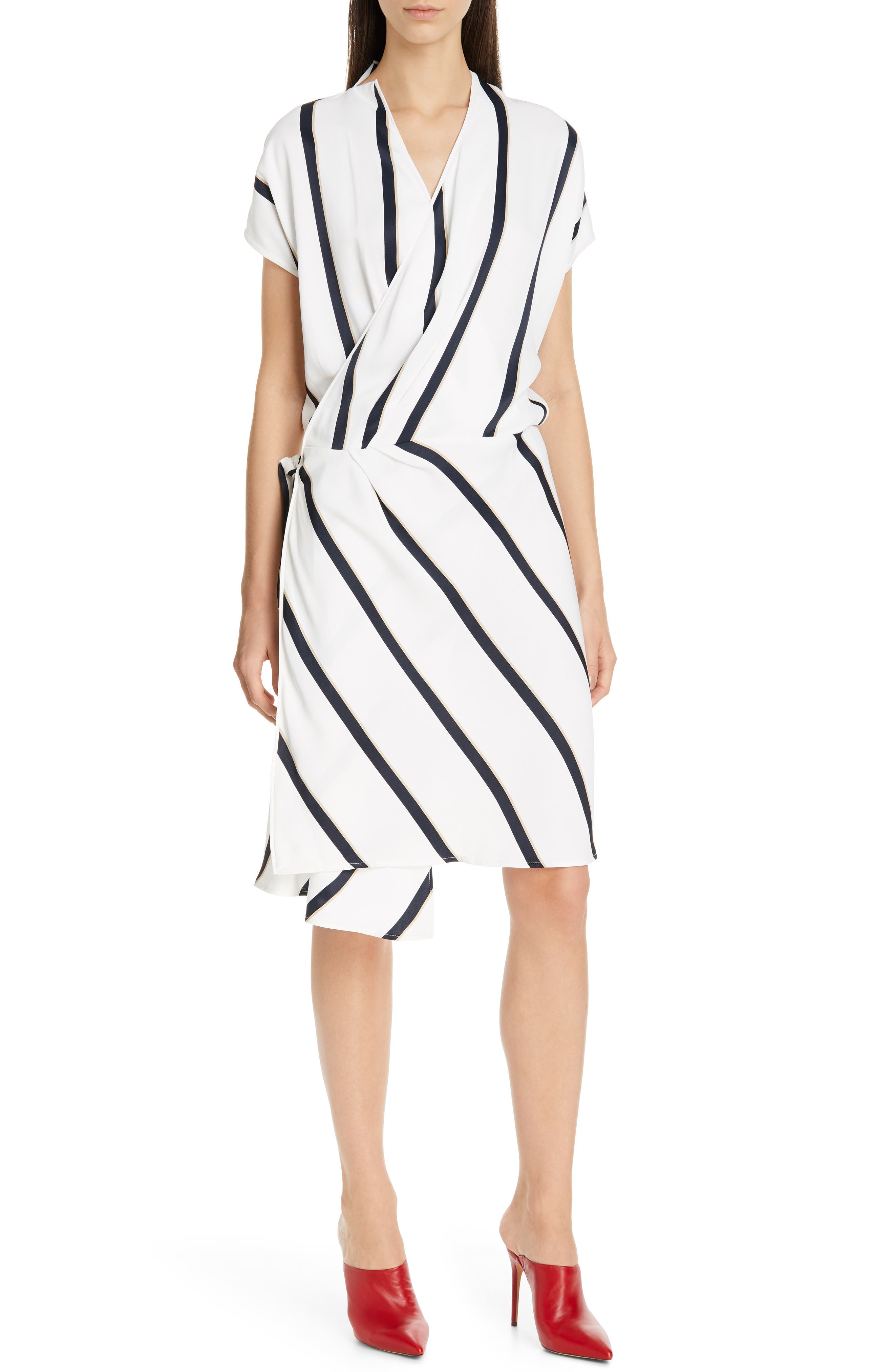Equipment Leonce Wrap Dress, White