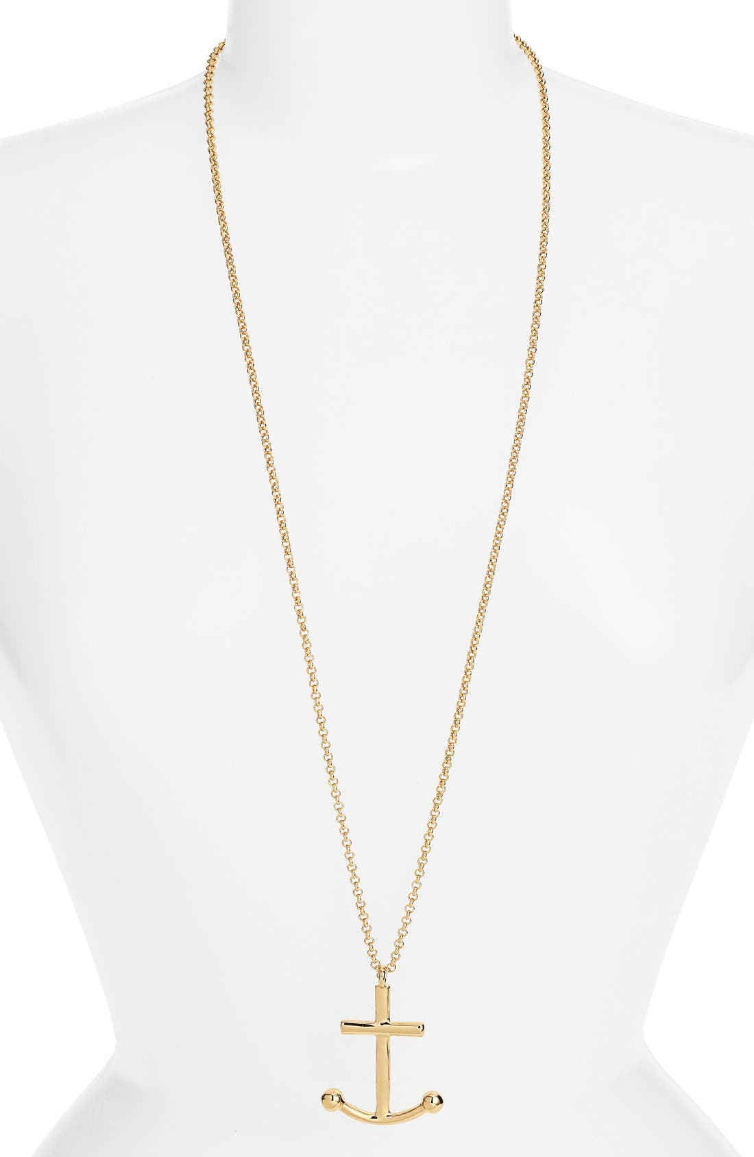 KATE SPADE NEW YORK 'anchors away' pendant necklace, Main, color, 710