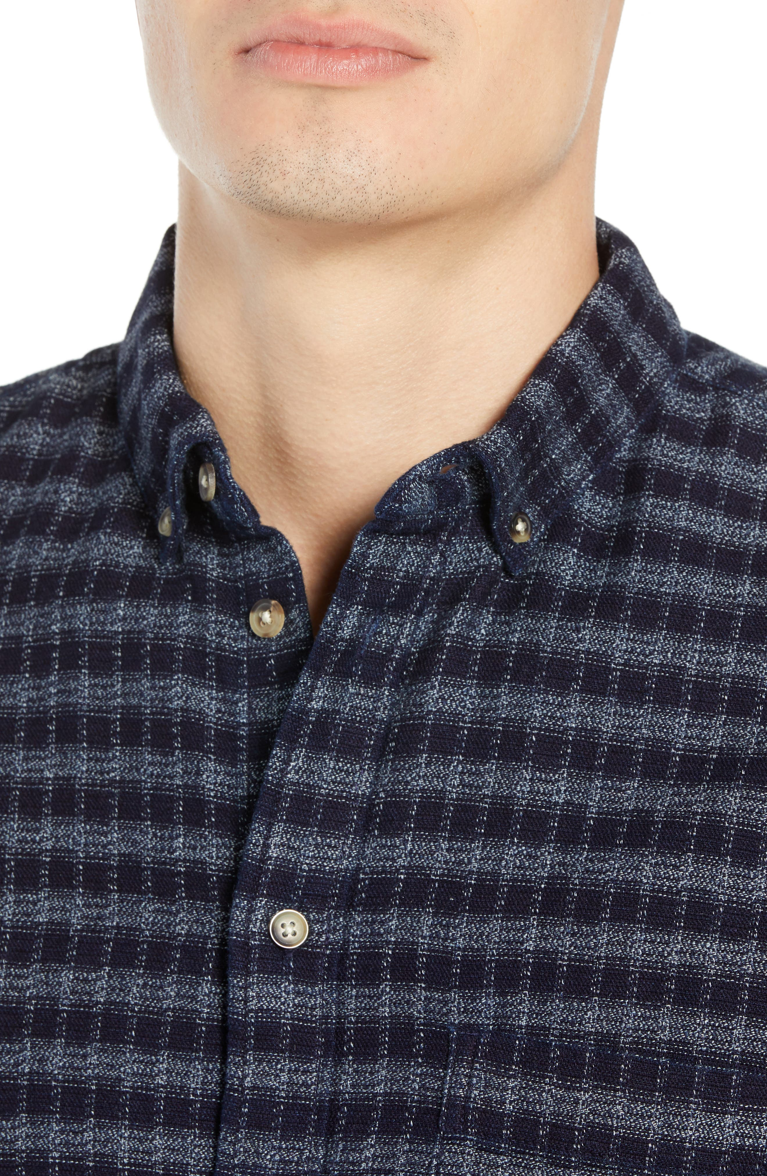 Standard Check Sport Shirt,                             Alternate thumbnail 2, color,                             INDIGO CHECK
