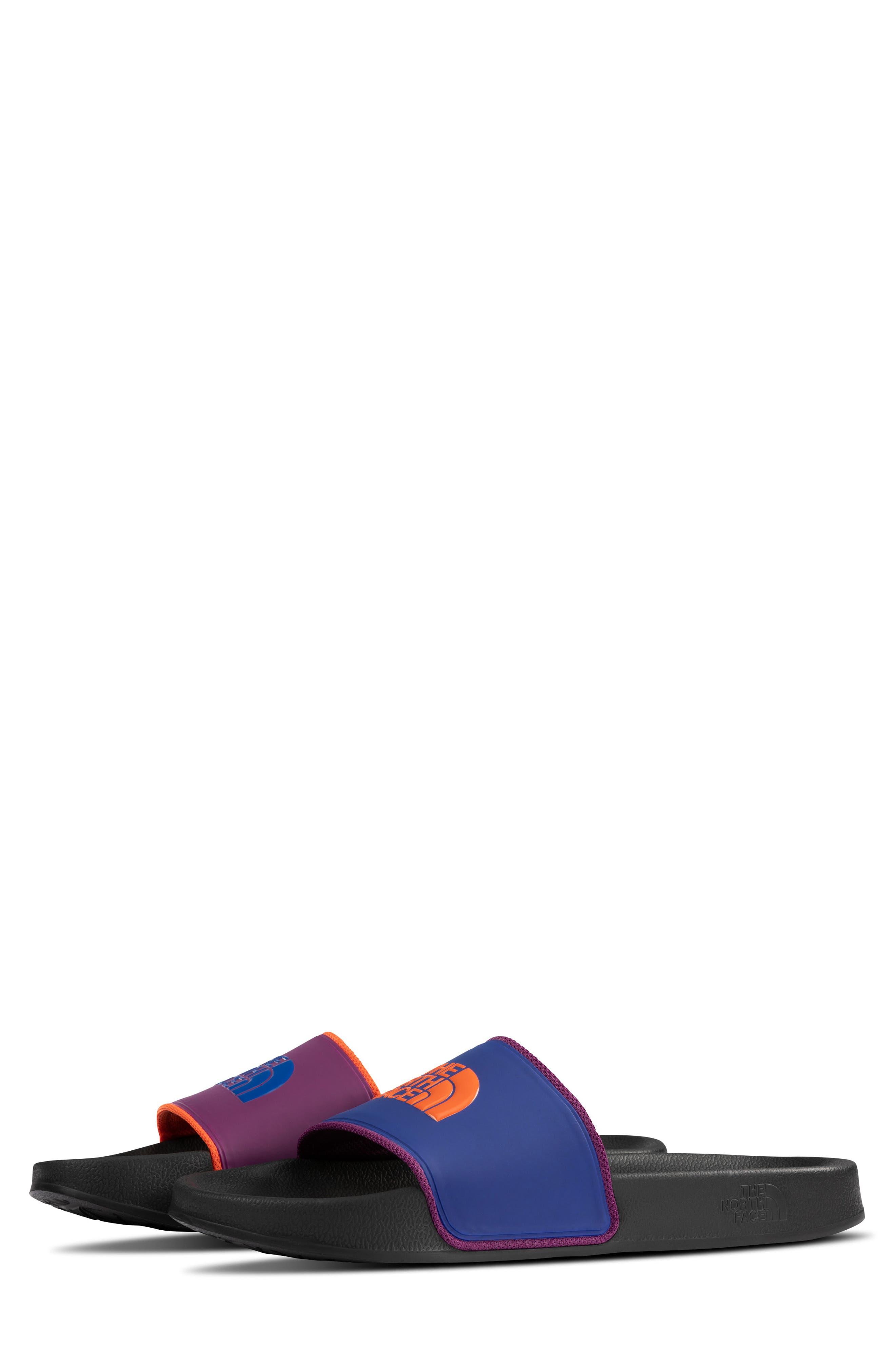 Base Camp II Slide Sandal,                             Alternate thumbnail 3, color,                             TNF BLACK/ AZTEC BLUE