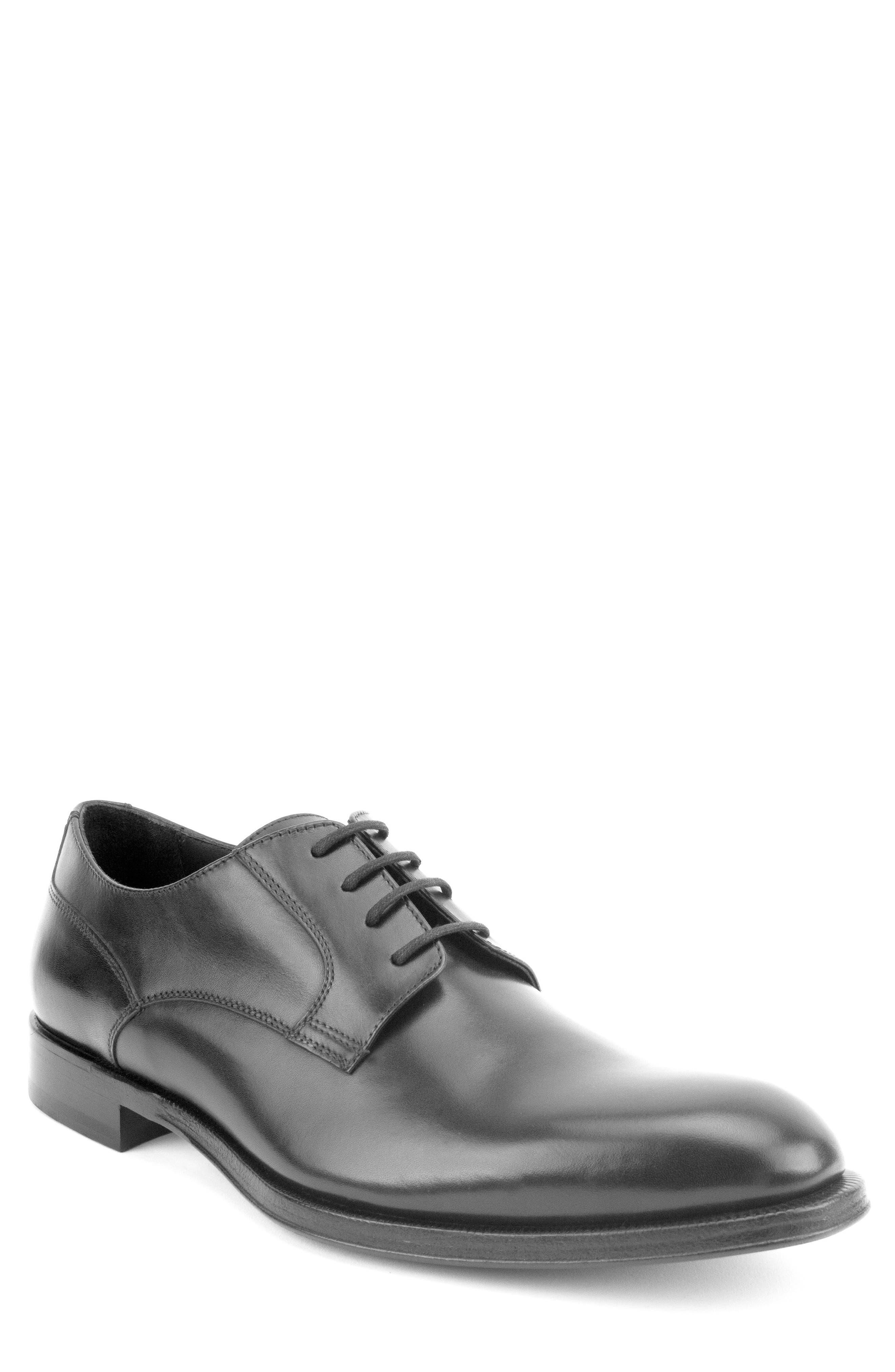 Devin Plain Toe Derby,                         Main,                         color, BLACK