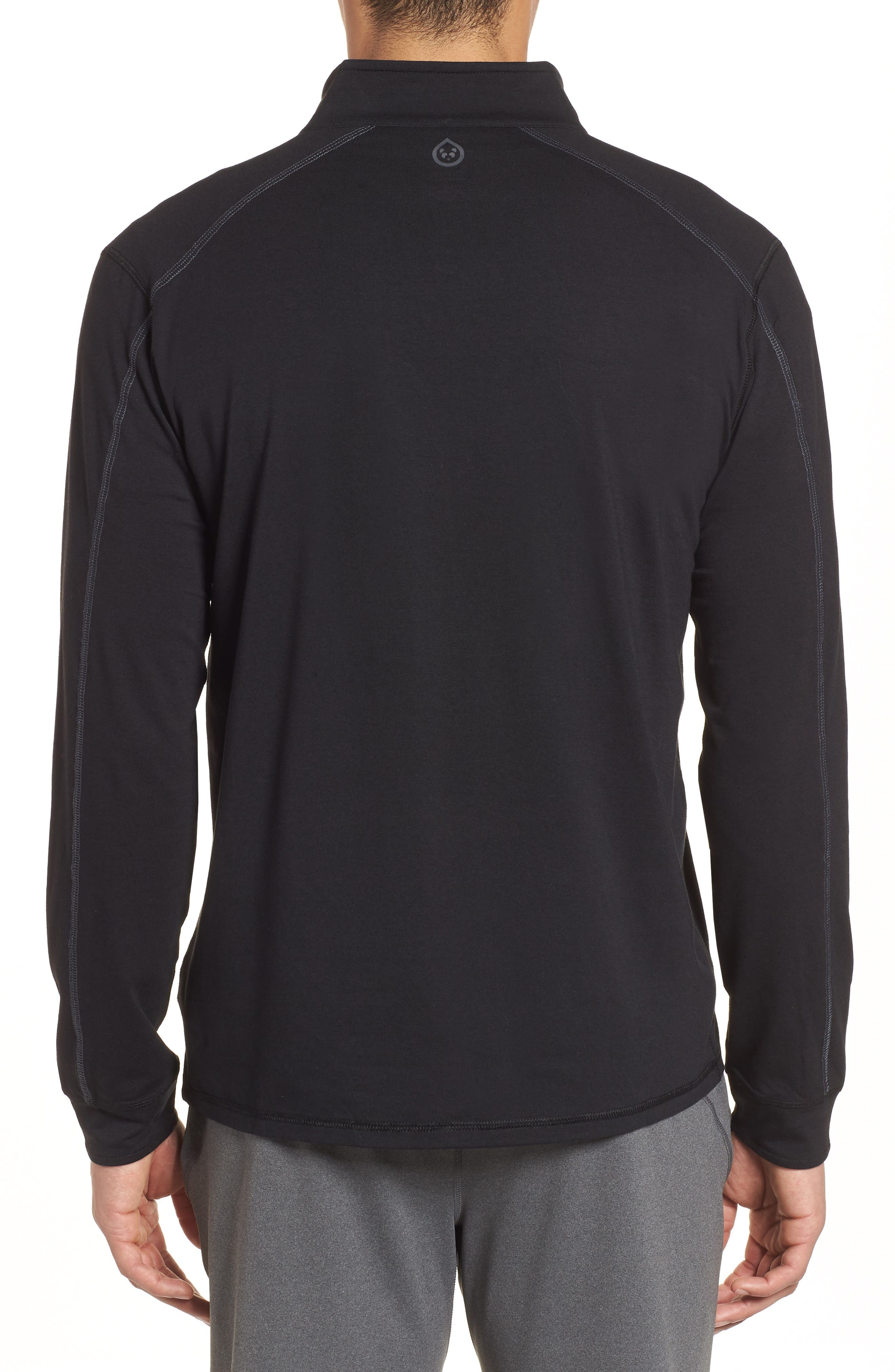 Carrollton Quarter Zip Sweatshirt,                             Alternate thumbnail 2, color,                             BLACK/ GUNMETAL