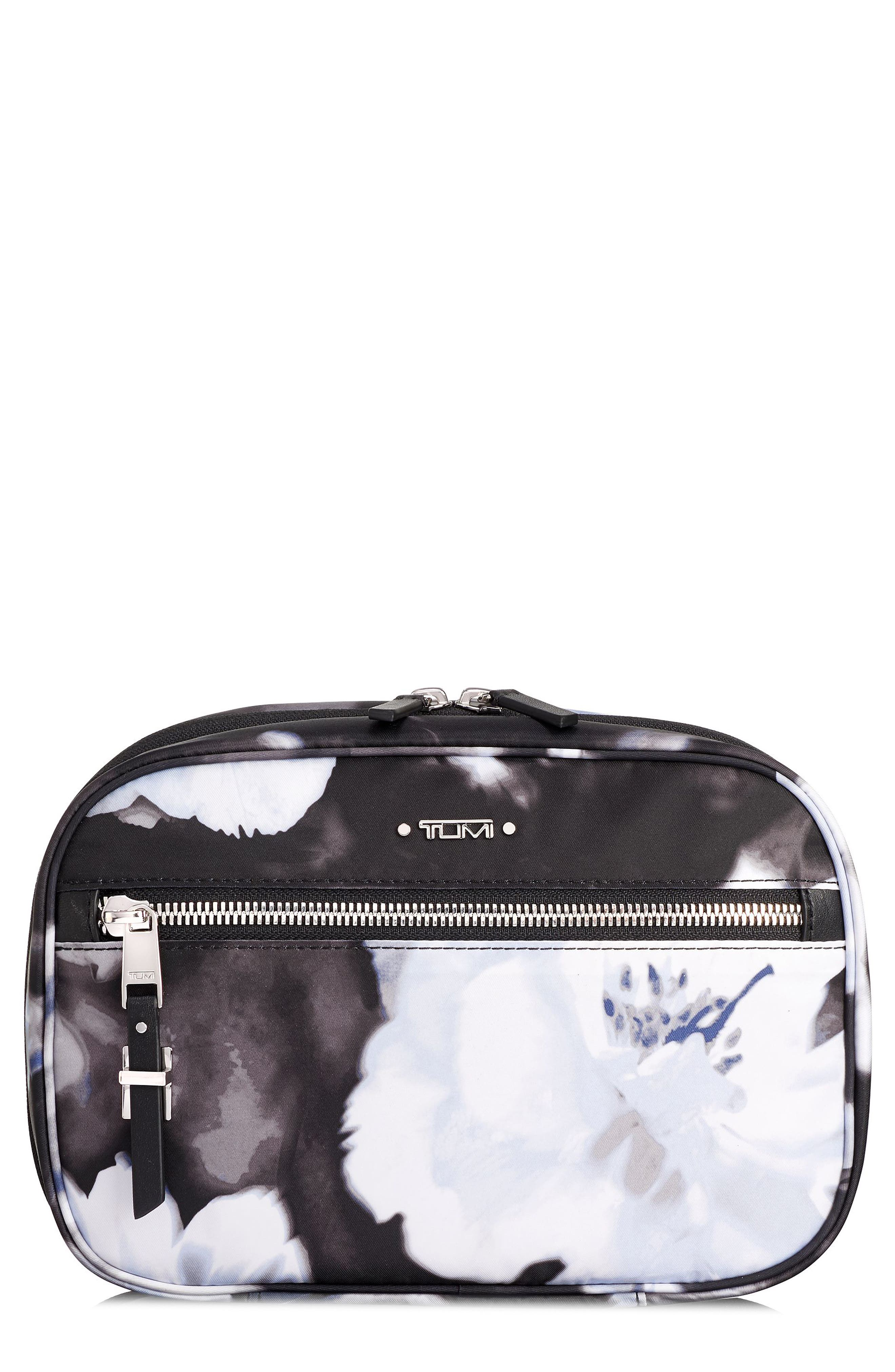 Voyageur Yima Nylon Cosmetics Case,                         Main,                         color, PHOTO FLORAL
