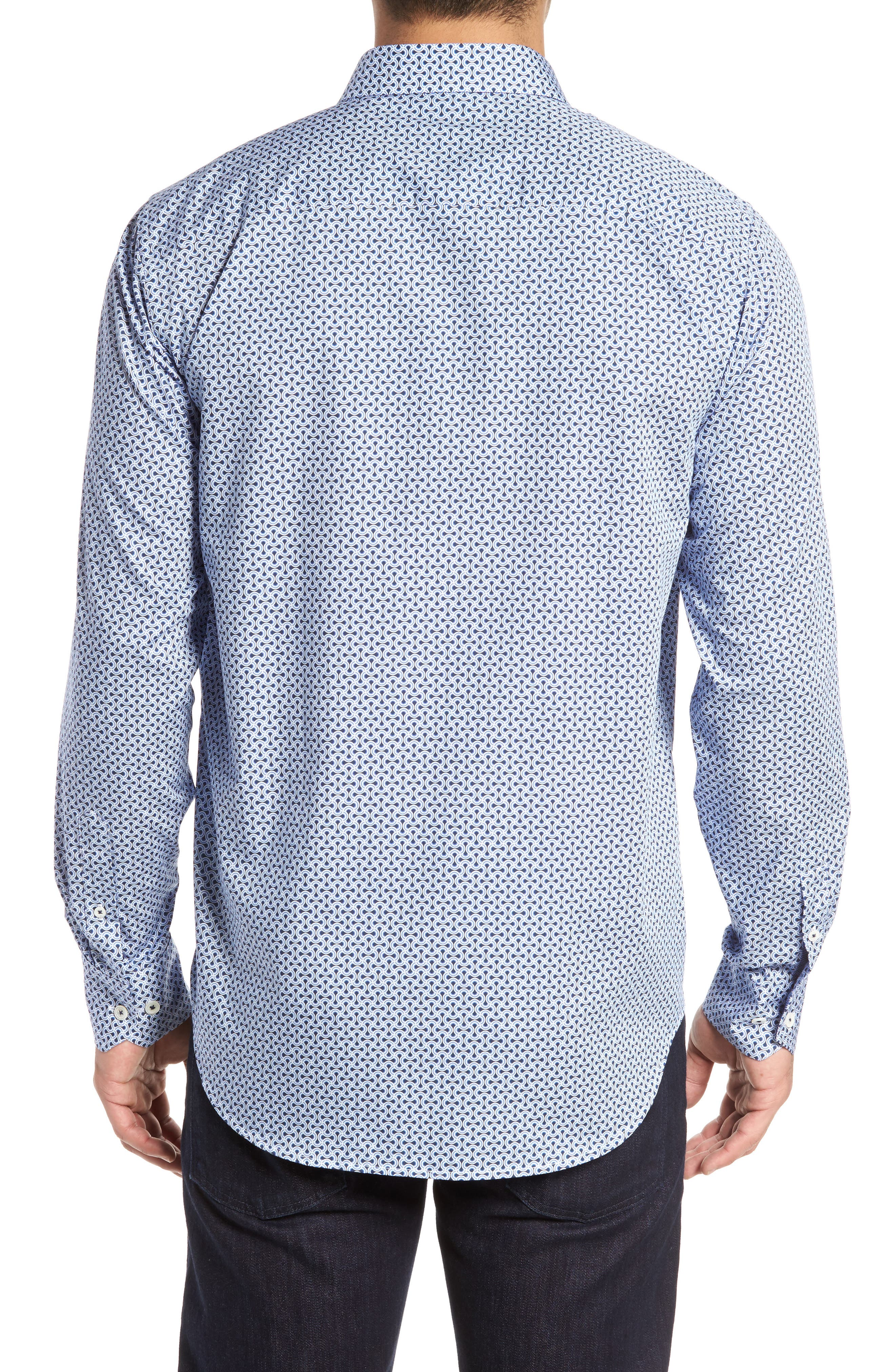 Classic Fit Print Sport Shirt,                             Alternate thumbnail 2, color,                             451
