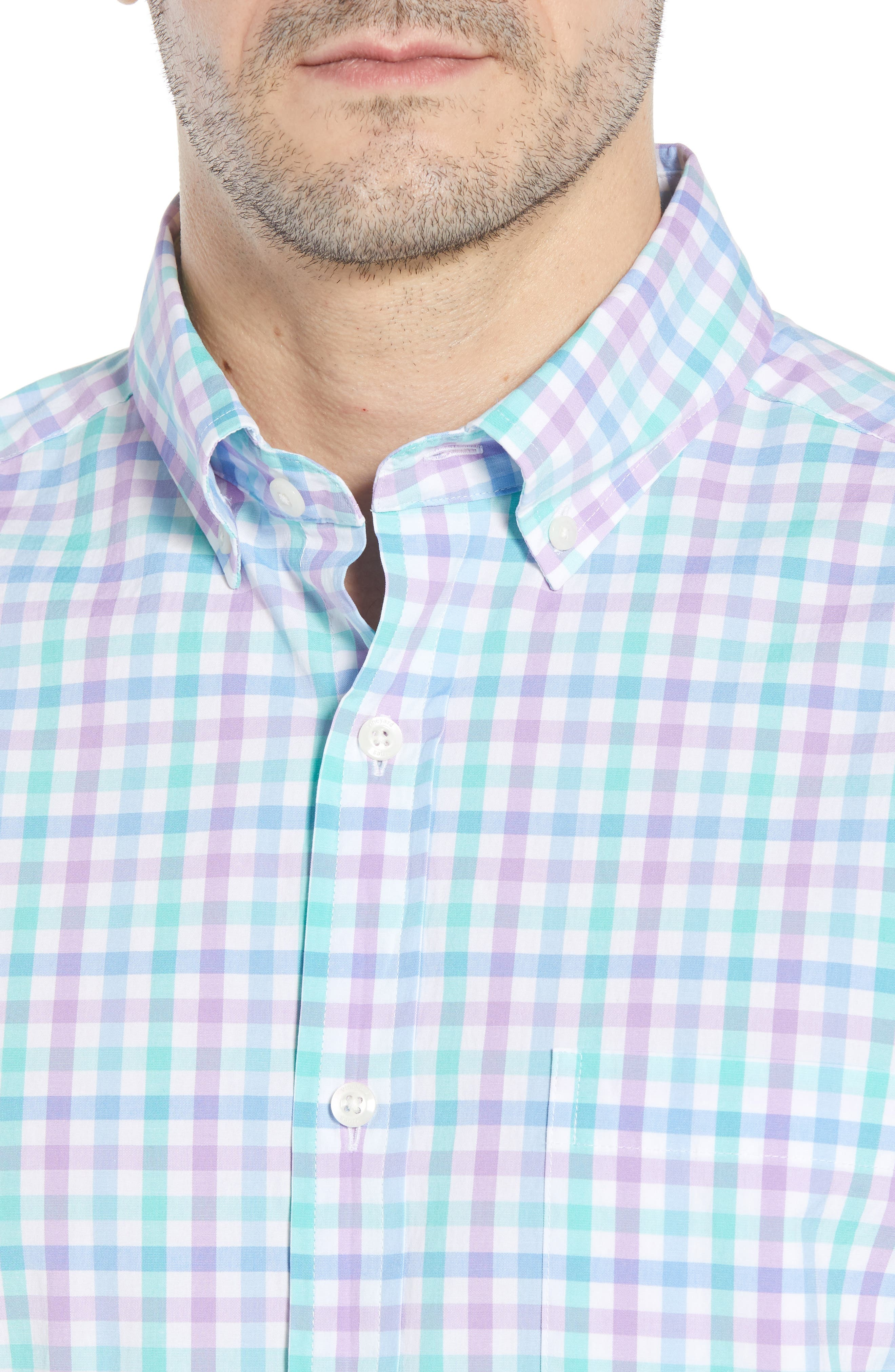 VINEYARD VINES,                             Murray Classic Fit Stretch Check Sport Shirt,                             Alternate thumbnail 4, color,                             526